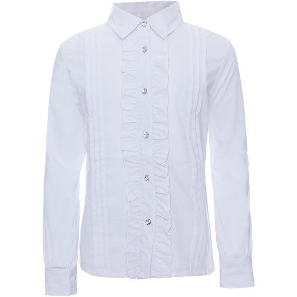 Купить Блузка для девочки S'cool, Китай, белый, 128, 122, 134, 140, 152, 164, 158, 146, Женский