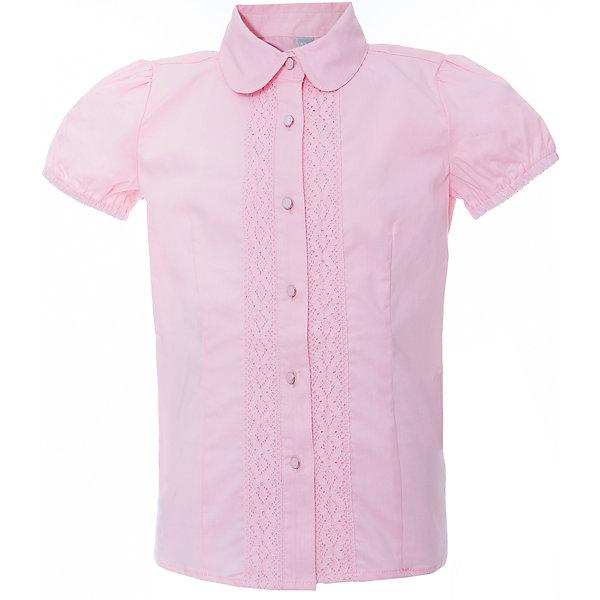 Блузка для девочки ScoolБлузки и рубашки<br>Блузка для девочки от известного бренда Scool<br>Состав:<br>65% хлопок, 32% полиэстер, 3% эластан<br>Нежная женственная блузка розового цвета. Хлопковое ажурное кружево вдоль планки. Застегивается на пуговки. Рукава-фонарики придают легкости и кокетства.<br><br>Ширина мм: 186<br>Глубина мм: 87<br>Высота мм: 198<br>Вес г: 197<br>Цвет: розовый<br>Возраст от месяцев: 96<br>Возраст до месяцев: 108<br>Пол: Женский<br>Возраст: Детский<br>Размер: 134,158,146,122,128,140,152,164<br>SKU: 4687002