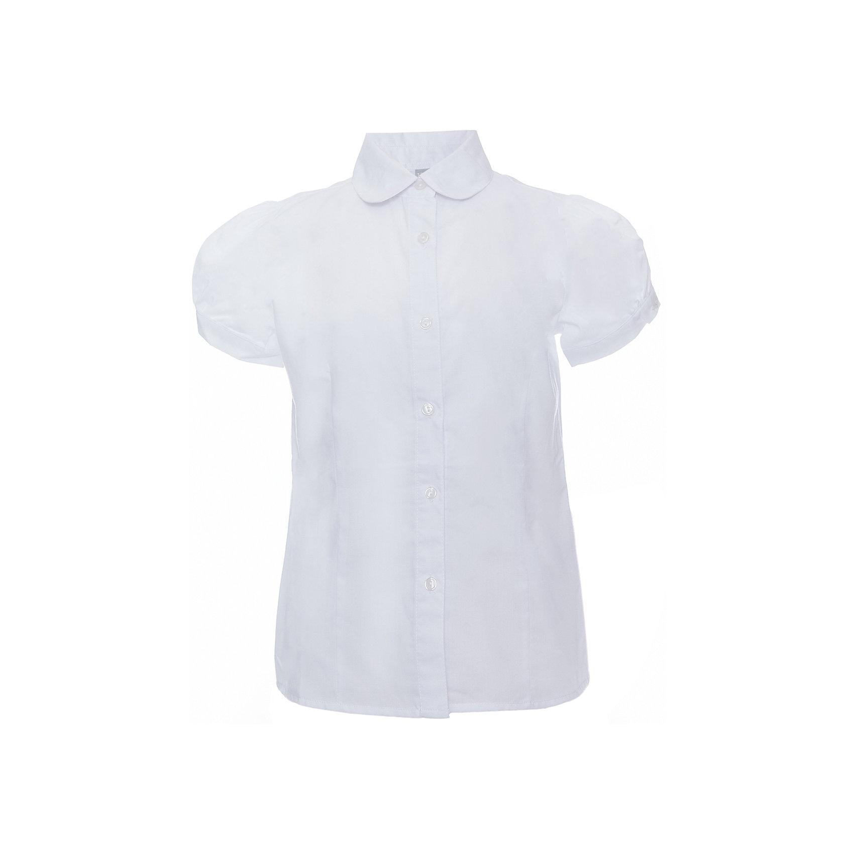 Блузка для девочки ScoolБлузки и рубашки<br>Блузка для девочки от известного бренда Scool<br>Состав:<br>65% хлопок, 35% полиэстер<br>Стильная белая блузка на пуговках. Округлый воротник. Рукава-фонарики придают кокетства.<br><br>Ширина мм: 186<br>Глубина мм: 87<br>Высота мм: 198<br>Вес г: 197<br>Цвет: белый<br>Возраст от месяцев: 144<br>Возраст до месяцев: 156<br>Пол: Женский<br>Возраст: Детский<br>Размер: 158,146,140,134,128,122,152,164<br>SKU: 4687011