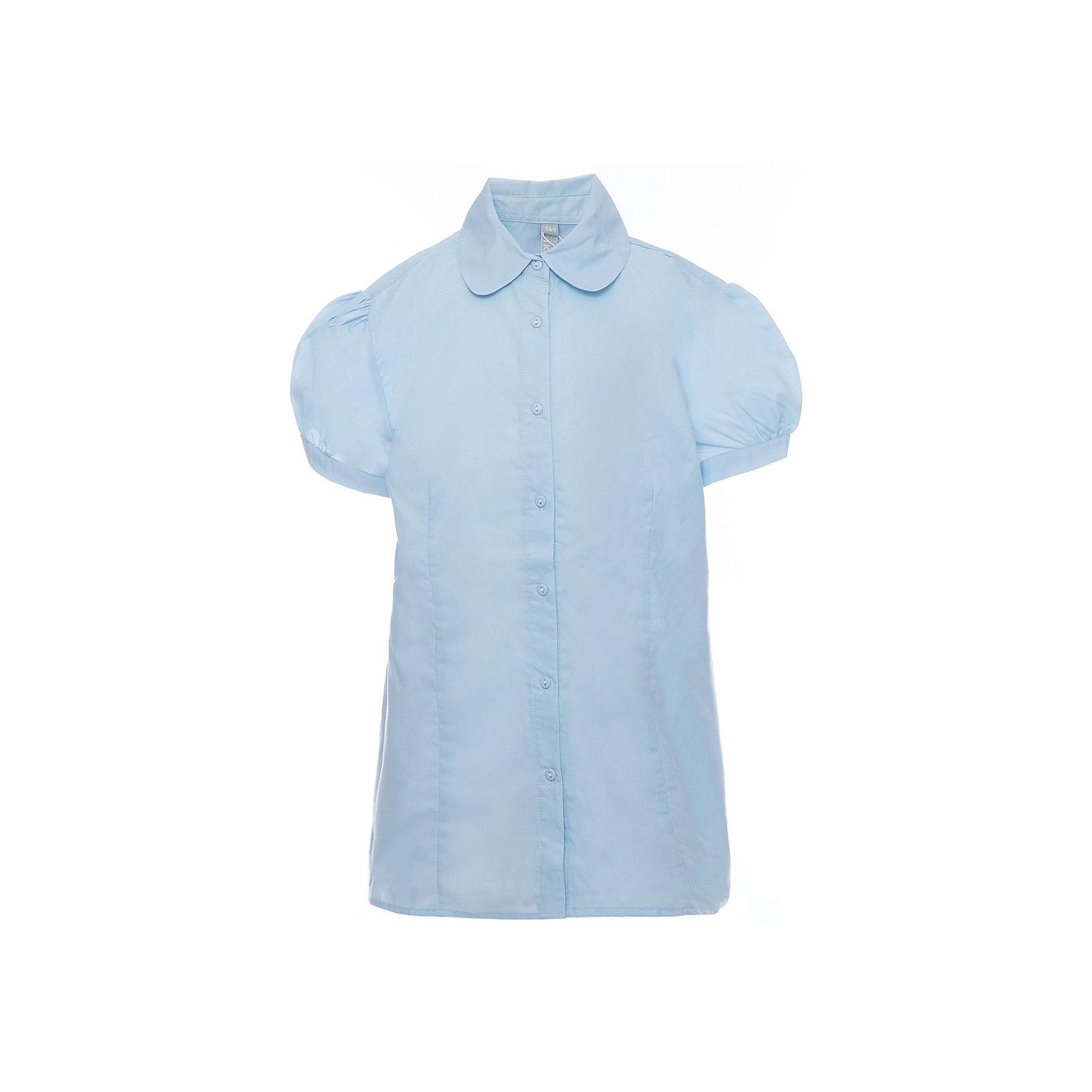 Блузка для девочки ScoolБлузки и рубашки<br>Блузка для девочки от известного бренда Scool<br>Состав:<br>65% хлопок, 35% полиэстер<br>Стильная голубая блузка на пуговках. Округлый воротник. Рукава-фонарики придают кокетства.<br><br>Ширина мм: 186<br>Глубина мм: 87<br>Высота мм: 198<br>Вес г: 197<br>Цвет: голубой<br>Возраст от месяцев: 72<br>Возраст до месяцев: 84<br>Пол: Женский<br>Возраст: Детский<br>Размер: 122,140,158,164,152,146,134,128<br>SKU: 4687020