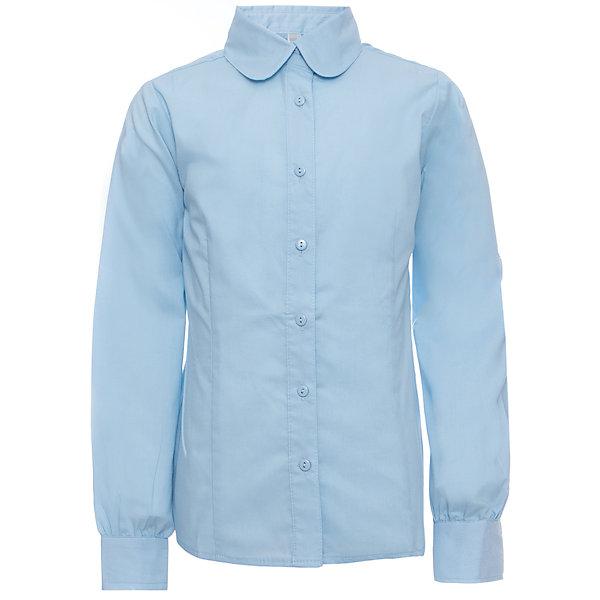 Блузка для девочки ScoolБлузки и рубашки<br>Блузка для девочки от известного бренда Scool<br>Состав:<br>65% хлопок, 35% полиэстер<br>Стильная голубая блузка классического покроя. Округлый воротничок. Застегивается на пуговицы.<br><br>Ширина мм: 186<br>Глубина мм: 87<br>Высота мм: 198<br>Вес г: 197<br>Цвет: голубой<br>Возраст от месяцев: 108<br>Возраст до месяцев: 120<br>Пол: Женский<br>Возраст: Детский<br>Размер: 140,134,122,128,152,158,164,146<br>SKU: 4687029