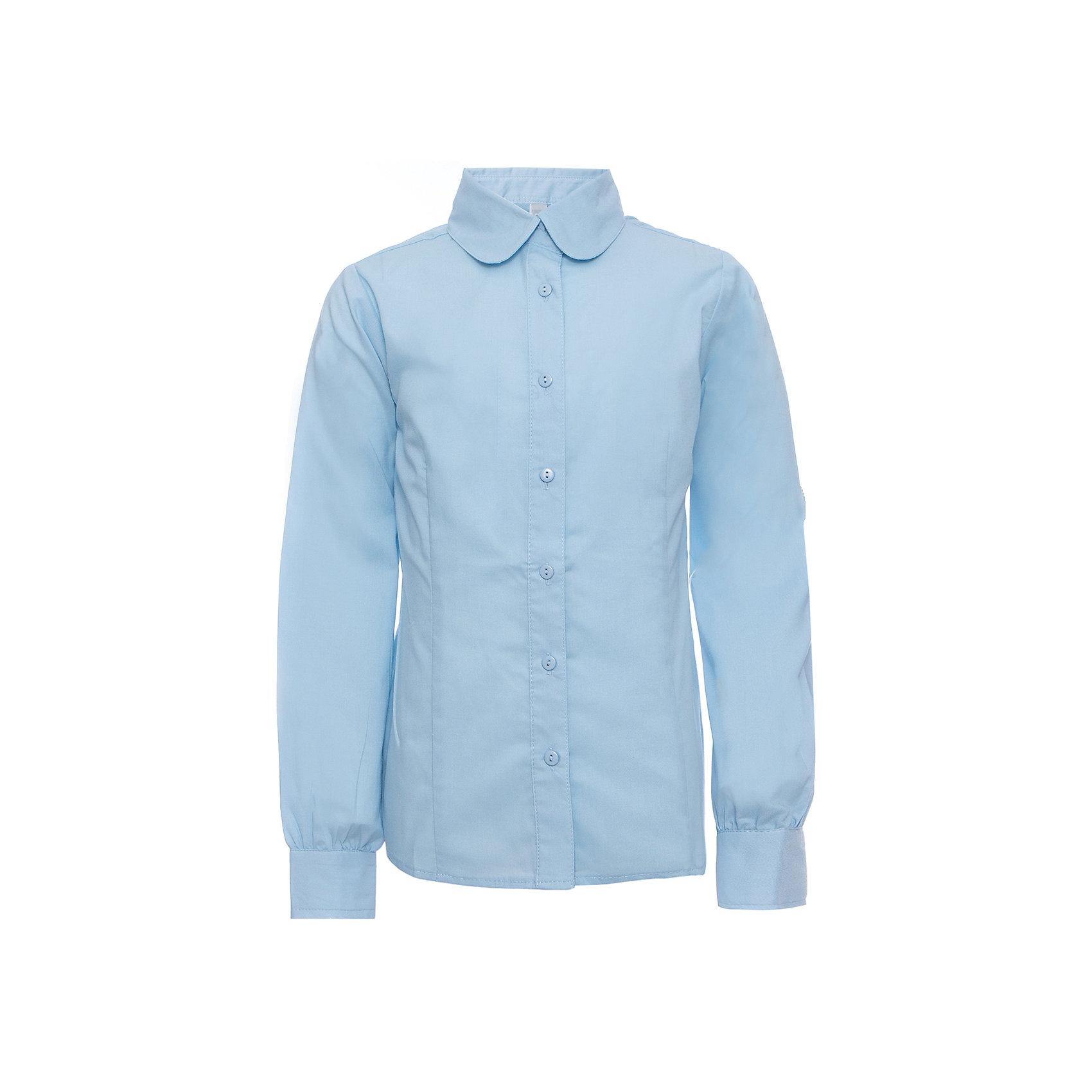 Блузка для девочки ScoolБлузки и рубашки<br>Блузка для девочки от известного бренда Scool<br>Состав:<br>65% хлопок, 35% полиэстер<br>Стильная голубая блузка классического покроя. Округлый воротничок. Застегивается на пуговицы.<br><br>Ширина мм: 186<br>Глубина мм: 87<br>Высота мм: 198<br>Вес г: 197<br>Цвет: голубой<br>Возраст от месяцев: 120<br>Возраст до месяцев: 132<br>Пол: Женский<br>Возраст: Детский<br>Размер: 146,128,152,158,164,140,134,122<br>SKU: 4687029