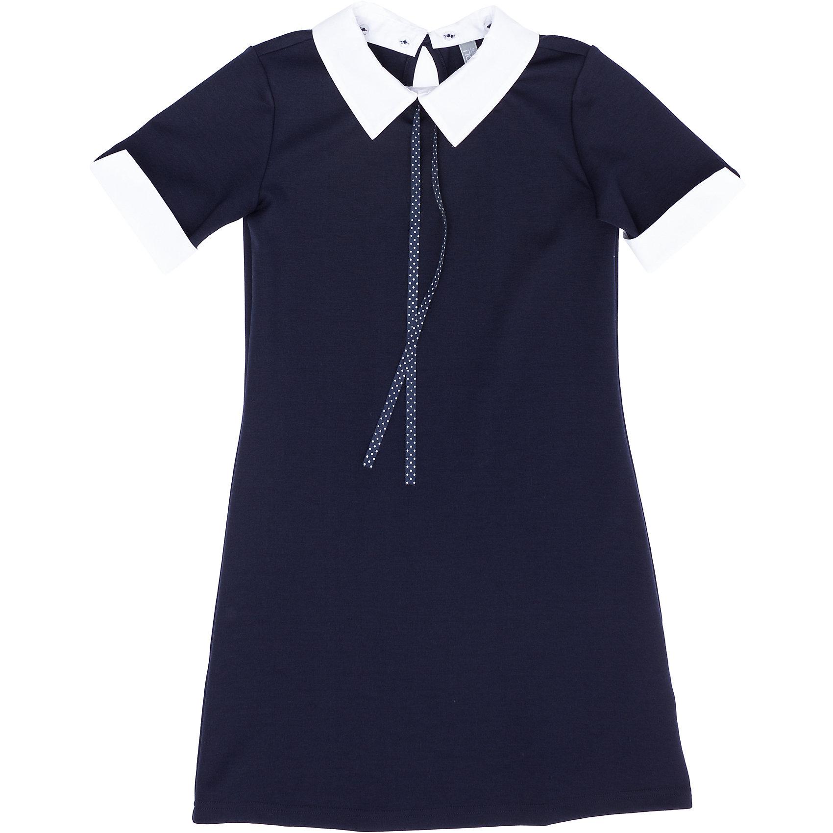 Платье для девочки ScoolПлатье для девочки от известного бренда Scool<br>Состав:<br>65% полиэстер, 30% вискоза, 5% эластан<br>Классическое темно-синее платье. <br>Позволяет вернуться в наше с вами детство: <br>манжеты и воротничок  нужно стирать отдельно, чтобы сохранить их белоснежный цвет.<br>Воротник съемный, на пуговках. Манжеты прикреплены специальной производственной строчкой, чтобы их легко можно было отпороть.<br><br>Ширина мм: 236<br>Глубина мм: 16<br>Высота мм: 184<br>Вес г: 177<br>Цвет: полуночно-синий<br>Возраст от месяцев: 72<br>Возраст до месяцев: 84<br>Пол: Женский<br>Возраст: Детский<br>Размер: 122,164,128,134,140,146,152,158<br>SKU: 4687047