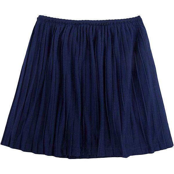 Юбка для девочки ScoolЮбки<br>Юбка для девочки от известного бренда Scool<br>Состав:<br>100% полиэстер<br>Легкая плиссированная юбка из темно-синего трикотажа на подкладке. Пояс на резинке, внутри текстильная подкладка. Хорошо смотрится с любыми блузками и футболками.<br>Ширина мм: 207; Глубина мм: 10; Высота мм: 189; Вес г: 183; Цвет: темно-синий; Возраст от месяцев: 72; Возраст до месяцев: 84; Пол: Женский; Возраст: Детский; Размер: 122,164,158,152,146,140,134,128; SKU: 4687056;