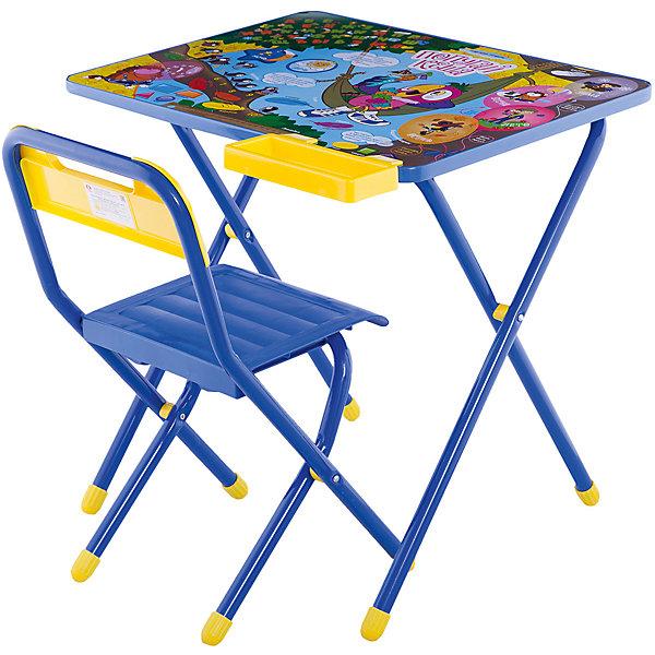 Набор детской складной мебели Попугай Кеша, ДэмиДетские столы и стулья<br>Каждый ребенок нуждается в удобной, специальной мебели, чтобы его организм мог развиваться правильно. Такая мебель может быть еще и яркой, а также выполнять обучающую функцию.<br>Набор детской складной мебели Попугай Кеша - это универсальный комплект необходимых предметов для малыша. Он состоит из стула и стола, выполненных в ярких цветах. Столешница позволяет разместить на ней все необходимые предметы: можно есть, играть или учиться! На ней расположены обучающие рисунки, также прикреплен специальный пенал для канцелярии. Разработан в соответствии с рекомендациями врачей-ортопедов. Сделан из безопасных для ребенка материалов.<br><br><br>Дополнительная информация:<br><br>материал: металл, пластик;<br>просторная столешница;<br>оригинальный яркий дизайн;<br>обучающие изображения на столешнице;<br>легко моется;<br>соответствует рекомендациям ортопедов;<br>боковой пенал для канцелярии;<br>для детей ростом от 130 до 145 см;<br>размер столешницы: 45 х 60 см;<br>высота столешницы: 58 см;<br>высота стула: 34 см;<br>сиденье: 26х28 см;<br>спинка: 12х34 см;<br>максимальная нагрузка: 40 кг.<br><br>Набор детской складной мебели Попугай Кеша можно купить в нашем магазине.<br><br>Ширина мм: 77<br>Глубина мм: 73<br>Высота мм: 15<br>Вес г: 8500<br>Возраст от месяцев: 48<br>Возраст до месяцев: 96<br>Пол: Унисекс<br>Возраст: Детский<br>SKU: 4693956