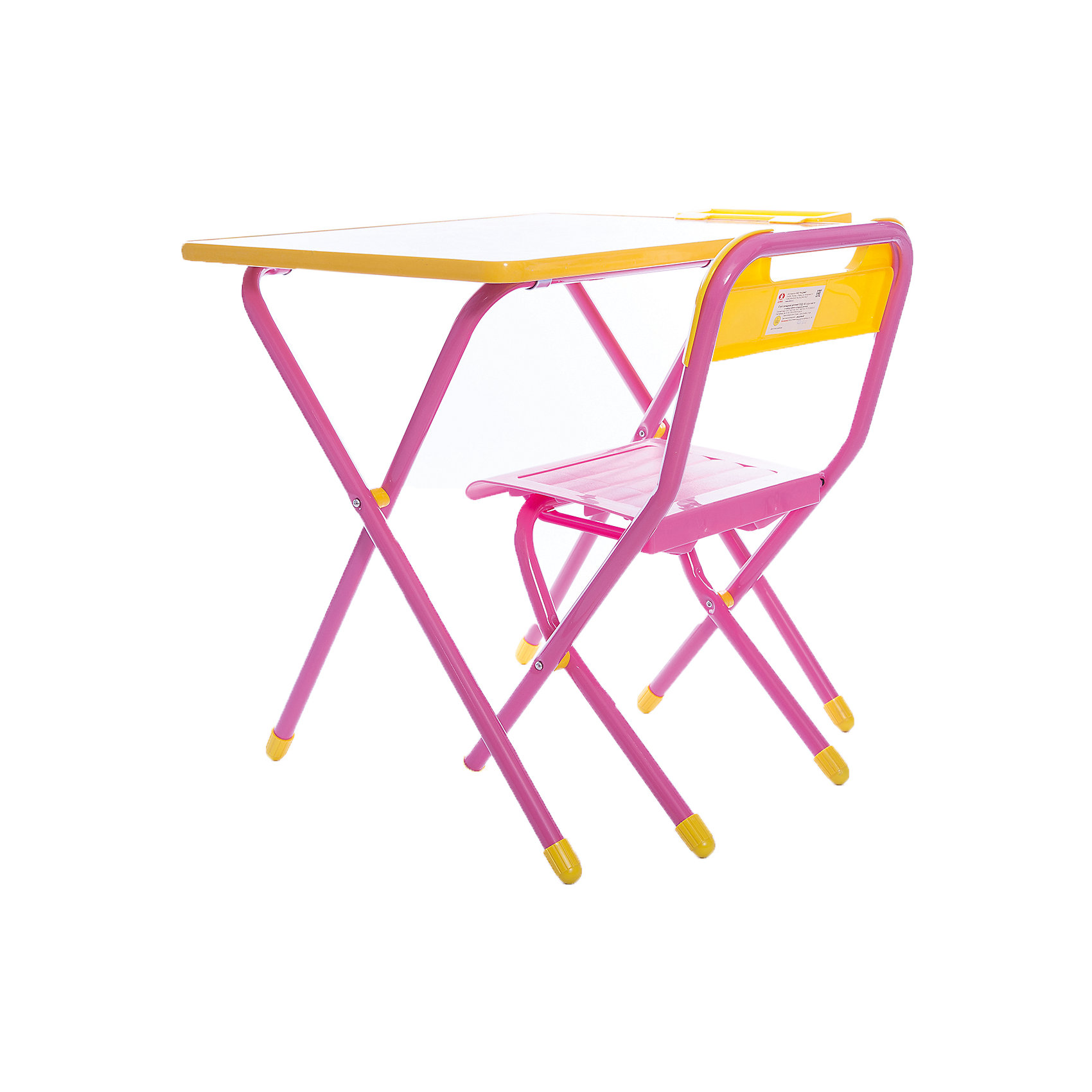Набор детской складной мебели Винни-Пух, ДэмиМебель<br>Каждый ребенок нуждается в удобной, специальной мебели, чтобы его организм мог развиваться правильно. Такая мебель может быть еще и яркой, а также выполнять обучающую функцию.<br>Набор детской складной мебели Винни-Пух - это универсальный комплект необходимых предметов для малыша. Он состоит из стула и стола, выполненных в ярких цветах. Столешница позволяет разместить на ней все необходимые предметы: можно есть, играть или учиться! На ней расположены обучающие рисунки, также прикреплен специальный пенал для канцелярии. Разработан в соответствии с рекомендациями врачей-ортопедов. Сделан из безопасных для ребенка материалов.<br><br><br>Дополнительная информация:<br><br>материал: металл, пластик;<br>просторная столешница;<br>оригинальный яркий дизайн;<br>обучающие изображения на столешнице;<br>легко моется;<br>соответствует рекомендациям ортопедов;<br>боковой пенал для канцелярии;<br>для детей ростом от 130 до 145 см;<br>размер столешницы: 45 х 60 см;<br>высота столешницы: 58 см;<br>высота стула: 34 см;<br>сиденье: 26х28 см;<br>спинка: 12х34 см;<br>максимальная нагрузка: 40 кг.<br><br>Набор детской складной мебели Винни-Пух можно купить в нашем магазине.<br><br>Ширина мм: 77<br>Глубина мм: 73<br>Высота мм: 15<br>Вес г: 8500<br>Возраст от месяцев: 48<br>Возраст до месяцев: 96<br>Пол: Унисекс<br>Возраст: Детский<br>SKU: 4693957