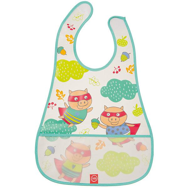 Нагрудник на липучке водонепроницаемый, Happy Baby, ментоловыйНагрудники и салфетки<br>Каждый малыш, вырастая, учится многим вещам. Приучить его есть и пить самому - непростой процесс, но на помощь родителям придут разработанные профессионалами приспособления - например, нагрудники. Нагрудник на липучке водонепроницаемый от Happy Baby (Хэпи Бэби) позволит малышу легче научиться есть и пить самостоятельно.<br>Он отличается удобной формой, имеет специальный кармашек для улавливания пищи. Материал - прозрачный, мягкий, приятный на ощупь. Надежно защитит одежду малыша от остатков пищи и пятен. Нагрудник легко застегивается благодаря липучке. Украшен он симпатичным рисунком. Сделан нагрудник из высококачественных и безопасных для малышей материалов.<br><br>Дополнительная информация:<br><br>цвет: разноцветный;<br>удобная форма;<br>непроницаемый;<br>кармашек для улавливания пищи;<br>застежка - липучка.<br><br>Нагрудник на липучке водонепроницаемый, Happy Baby (Хэпи Бэби), ментоловый, можно купить в нашем магазине.<br><br>Ширина мм: 5<br>Глубина мм: 300<br>Высота мм: 400<br>Вес г: 45<br>Возраст от месяцев: 6<br>Возраст до месяцев: 36<br>Пол: Унисекс<br>Возраст: Детский<br>SKU: 4695001