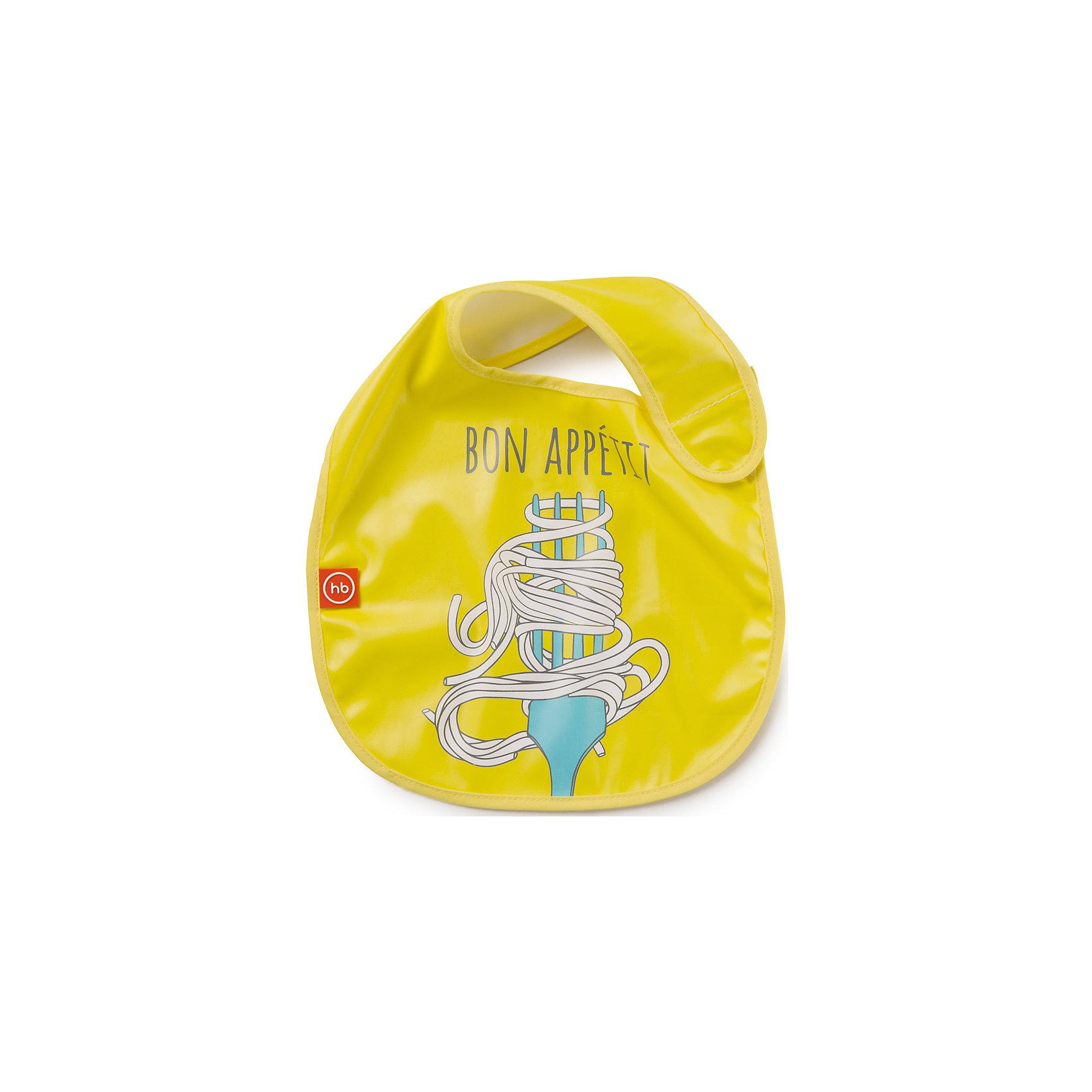 Нагрудник на липучке, Happy Baby, желтыйКаждый малыш, вырастая, учится многим вещам. Приучить его есть и пить самому - непростой процесс, но на помощь родителям придут разработанные профессионалами приспособления - например, нагрудники. Нагрудник на липучке  от Happy Baby (Хэпи Бэби) позволит малышу легче научиться есть и пить самостоятельно.<br>Он отличается удобной формой, приятный на ощупь. Надежно защитит одежду малыша от остатков пищи и пятен. Нагрудник легко застегивается благодаря липучке. Украшен он симпатичным рисунком. Сделан нагрудник из высококачественных и безопасных для малышей материалов.<br><br>Дополнительная информация:<br><br>цвет: разноцветный;<br>удобная форма;<br>украшен принтом;<br>застежка - липучка.<br><br>Нагрудник на липучке Happy Baby (Хэпи Бэби), желтый, можно купить в нашем магазине.<br><br>Ширина мм: 5<br>Глубина мм: 260<br>Высота мм: 310<br>Вес г: 49<br>Возраст от месяцев: 6<br>Возраст до месяцев: 36<br>Пол: Унисекс<br>Возраст: Детский<br>SKU: 4695005