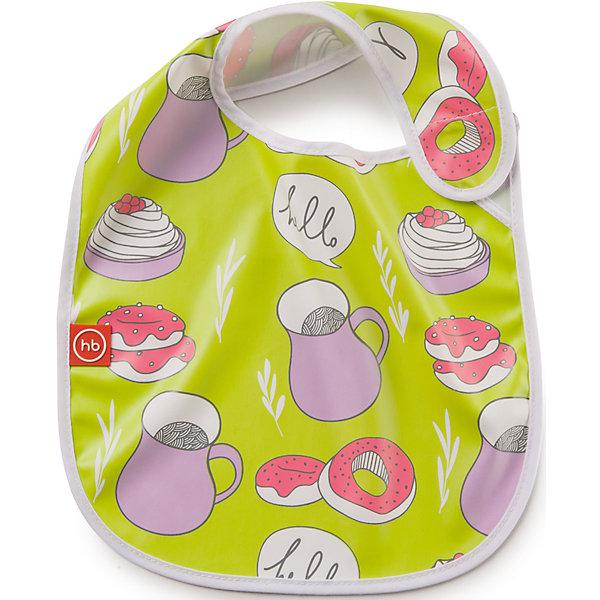 Нагрудник на липучке, Happy Baby, салатовыйНагрудники и салфетки<br>Каждый малыш, вырастая, учится многим вещам. Приучить его есть и пить самому - непростой процесс, но на помощь родителям придут разработанные профессионалами приспособления - например, нагрудники. Нагрудник на липучке  от Happy Baby (Хэпи Бэби) позволит малышу легче научиться есть и пить самостоятельно.<br>Он отличается удобной формой, приятный на ощупь. Надежно защитит одежду малыша от остатков пищи и пятен. Нагрудник легко застегивается благодаря липучке. Украшен он симпатичным рисунком. Сделан нагрудник из высококачественных и безопасных для малышей материалов.<br><br>Дополнительная информация:<br><br>цвет: разноцветный;<br>удобная форма;<br>украшен принтом;<br>застежка - липучка.<br><br>Нагрудник на липучке Happy Baby (Хэпи Бэби), салатовый, можно купить в нашем магазине.<br>Ширина мм: 5; Глубина мм: 260; Высота мм: 310; Вес г: 49; Возраст от месяцев: 6; Возраст до месяцев: 36; Пол: Унисекс; Возраст: Детский; SKU: 4695006;