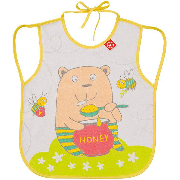 Фартук нагрудный, Happy Baby, желтыйНагрудники и салфетки<br>Кормление малыша, как правило, требует особой подготовки. Так же, как и приучить его есть и пить самому - непростой процесс, но на помощь родителям придут разработанные профессионалами приспособления - например, нагрудные фартуки. Фартук нагрудный от Happy Baby (Хэпи Бэби) позволит малышу легче научиться есть и пить самостоятельно.<br>Он отличается удобной формой, приятный на ощупь, из мягкого материала. Надежно защитит одежду малыша от остатков пищи и пятен, так как имеет непромокаемую подкладку. Нагрудный фартук легко надевается благодаря лямкам и завязке на шее. Украшен он симпатичным рисунком. Сделан нагрудный фартук из высококачественных и безопасных для малышей материалов.<br><br>Дополнительная информация:<br><br>цвет: разноцветный;<br>удобная форма;<br>украшен принтом;<br>непромокаемая подкладка.<br><br>Фартук нагрудный, Happy Baby (Хэпи Бэби),, желтый, можно купить в нашем магазине.<br>Ширина мм: 10; Глубина мм: 200; Высота мм: 320; Вес г: 42; Возраст от месяцев: 3; Возраст до месяцев: 36; Пол: Унисекс; Возраст: Детский; SKU: 4695012;