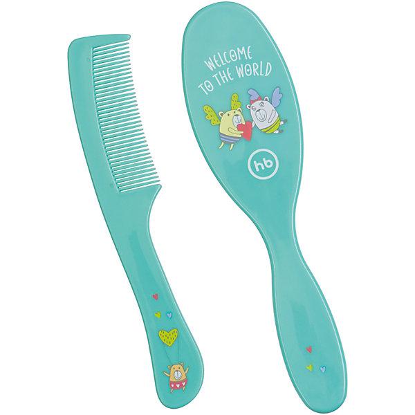 Набор щеток для волос, Happy Baby, мятныйРасчески и щетки<br>Для ухода за каждым малышом с момента его рождения требуются специальные  предметы. На помощь родителям придут разработанные профессионалами приспособления. Набор щеток для волос от Happy Baby (Хэпи Бэби) позволит правильно ухаживать за волосами малыша каждый день.<br>Мамы знают, как тяжело найти предметы для ухода за малышом, подходящие для самых маленьких. Этот набор станет для многих спасением! Щетки отличаются эргономичной формой, благодаря которой не занимают много места. Они не травмирует нежную кожу головы ребенка благодаря закругленным кончикам расчески. Предметы имеют приятную расцветку, украшены рисунками. Сделаны они из высококачественных и безопасных для малышей материалов.<br><br>Дополнительная информация:<br><br>цвет: мятный;<br>подходит для ежедневного использования;<br>искусственная щетина;<br>закругленные кончики.<br><br>Набор щеток для волос, Happy Baby (Хэпи Бэби), мятный, можно купить в нашем магазине.<br><br>Ширина мм: 30<br>Глубина мм: 75<br>Высота мм: 99<br>Вес г: 64<br>Возраст от месяцев: 0<br>Возраст до месяцев: 36<br>Пол: Унисекс<br>Возраст: Детский<br>SKU: 4695013