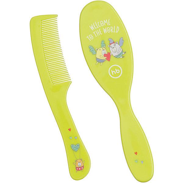 Набор щеток для волос, Happy Baby, салатовый