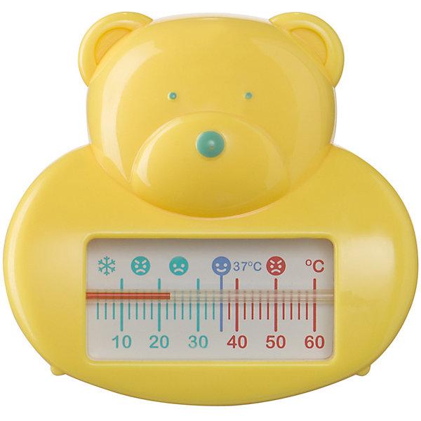 Термометр для воды, Happy Baby, желтыйТермометры<br>Для ухода за каждым малышом с момента его рождения требуются специальные  предметы. На помощь родителям придут разработанные профессионалами приспособления. Термометр для воды от Happy Baby (Хэпи Бэби) позволит правильно ухаживать за малышом каждый день.<br>Мамы знают, как тяжело найти предметы для ухода за малышом, подходящие для самых маленьких. Этот термометр для воды для многих спасением! Он отличается забавной формой - медвежонок - благодаря которой купание можно превратить в игру или отвлечь внимание малыша. На шкале есть отметки для определения оптимальной температуры воды. Сделан он из высококачественных и безопасных для малышей материалов.<br><br>Дополнительная информация:<br><br>цвет: желтый;<br>форма - мишка;<br>поможет определить оптимальную температуру воды.<br><br>Термометр для воды, Happy Baby (Хэпи Бэби), желтый, можно купить в нашем магазине.<br>Ширина мм: 50; Глубина мм: 150; Высота мм: 150; Вес г: 58; Возраст от месяцев: 0; Возраст до месяцев: 36; Пол: Унисекс; Возраст: Детский; SKU: 4695021;