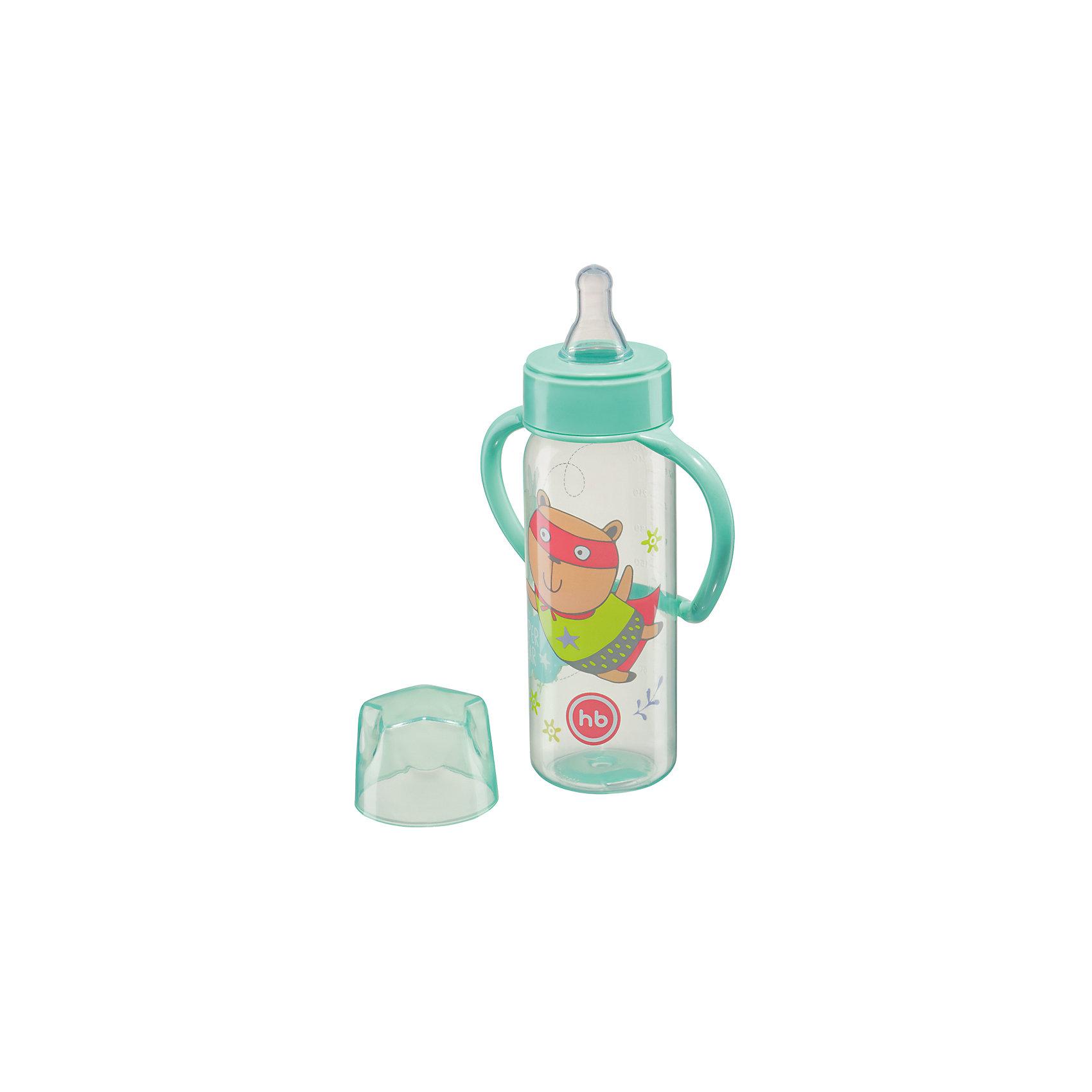 Happy Baby Бутылочка для кормления с ручками, 250 мл, Happy Baby, мятный в какой аптеке города губкинска можно купить стрептоцид
