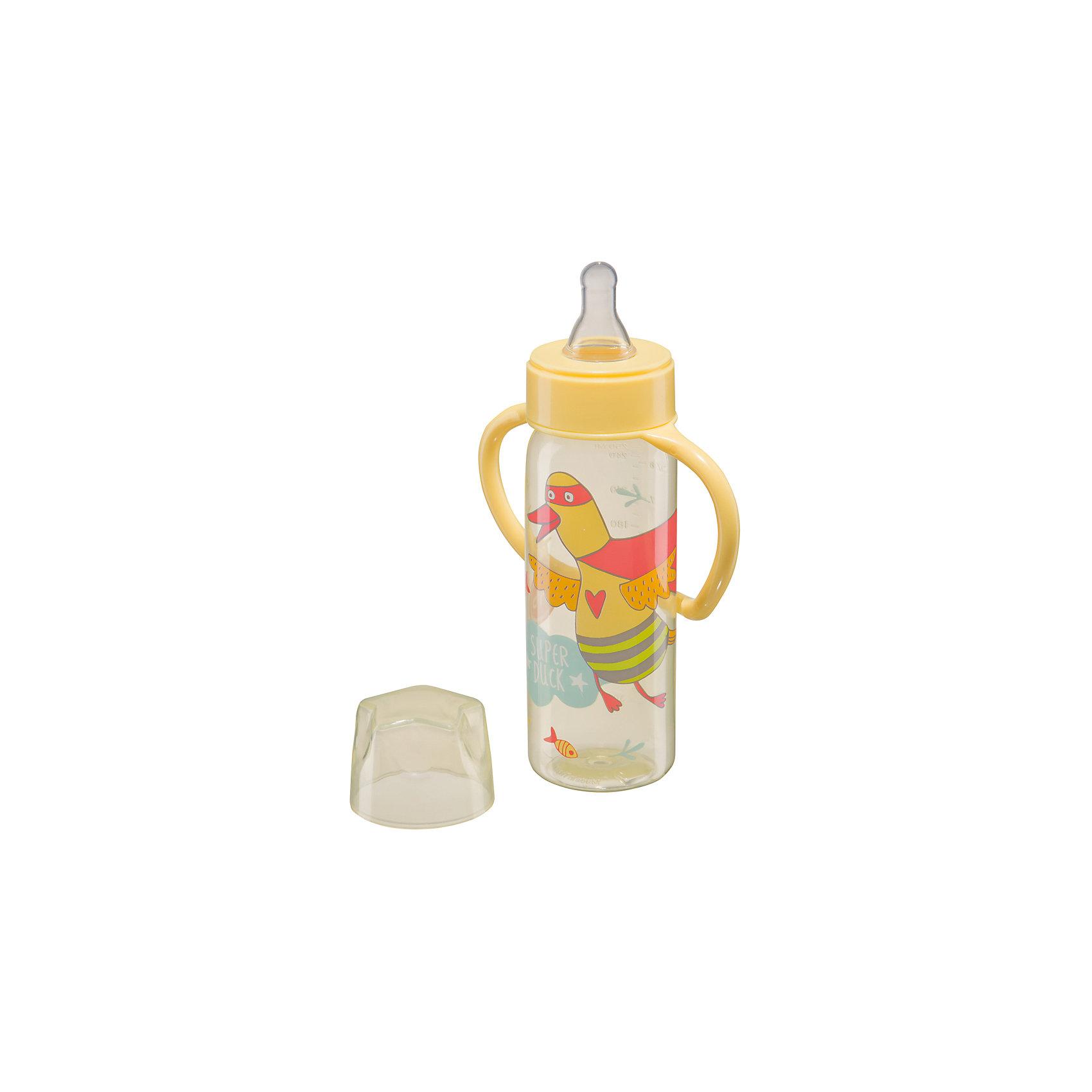 Бутылочка для кормления с ручками, 250 мл, Happy Baby, желтый210 - 281 мл.<br>Яркая желтая бутылка  для кормления с ручками, 250 мл, Happy Baby, желтый с оригинальным рисунком - отличный вариант посуды для питья и кормления. Бутылочка для кормления с ручками Drink Up от Happy Baby желтый, поэтому маме легко контролировать количество жидкости в бутылке. Благодаря съемным ручкам и специальной изогнутой форме, бутылку удобно использовать, как в дороге, так и дома.<br>Горлышко - широкое, поэтому ребенку будет максимально легко и удобно пить молоко, воду, соки и прочие жидкости. Бутылочка имеет объем, равный 250 мл., шкала разбита на отрезки по 30 мл. В комплект входит бутылочка с герметичной крышкой и две съемные соски.<br><br>Дополнительная информация:<br><br>- эргономичные ручки<br>- герметичная крышка<br>- ручки легко снимаются<br>- шкала с делениями в 30 мл.<br>- медленный поток<br>- материал: полипропилен, силикон<br>- материал: соски : силикон<br>- объем бутылочки: 250 мл.<br><br>Бутылочку для кормления с ручками, 250 мл, Happy Baby, желтый можно купить в нашем интернет-магазине.<br><br>Ширина мм: 65<br>Глубина мм: 120<br>Высота мм: 275<br>Вес г: 75<br>Возраст от месяцев: 0<br>Возраст до месяцев: 12<br>Пол: Унисекс<br>Возраст: Детский<br>SKU: 4696780