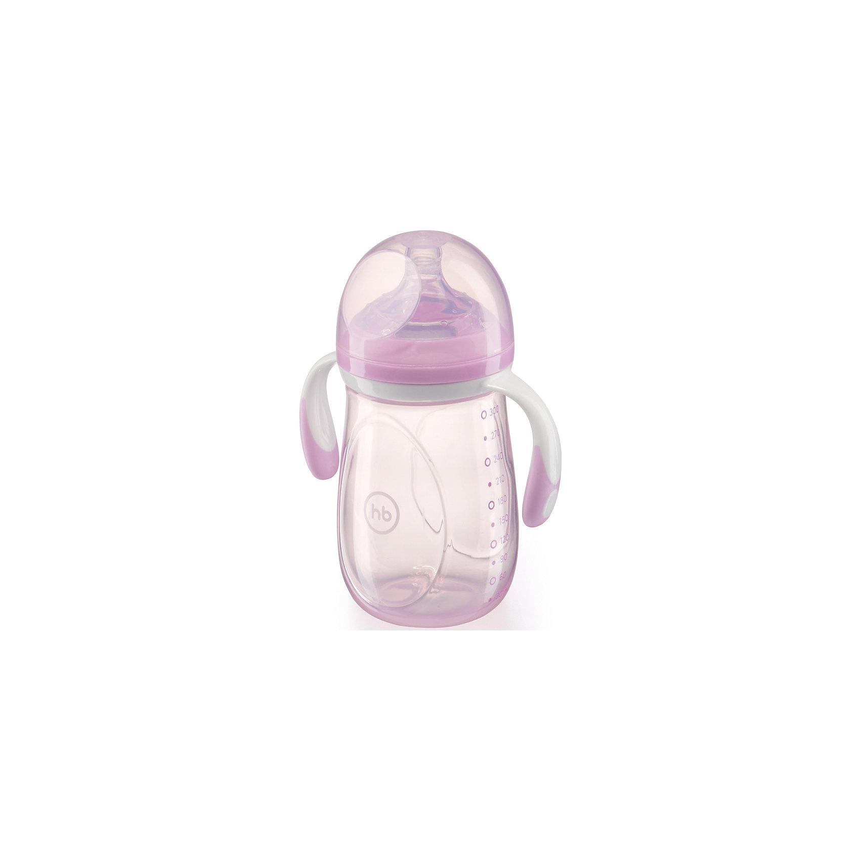 Happy Baby Бутылочка для кормления с антиколиковой соской, 300 мл, Happy Baby, фиолетовый бутылочка для кормления happy baby с ручками 240 мл drink up соска в подарок