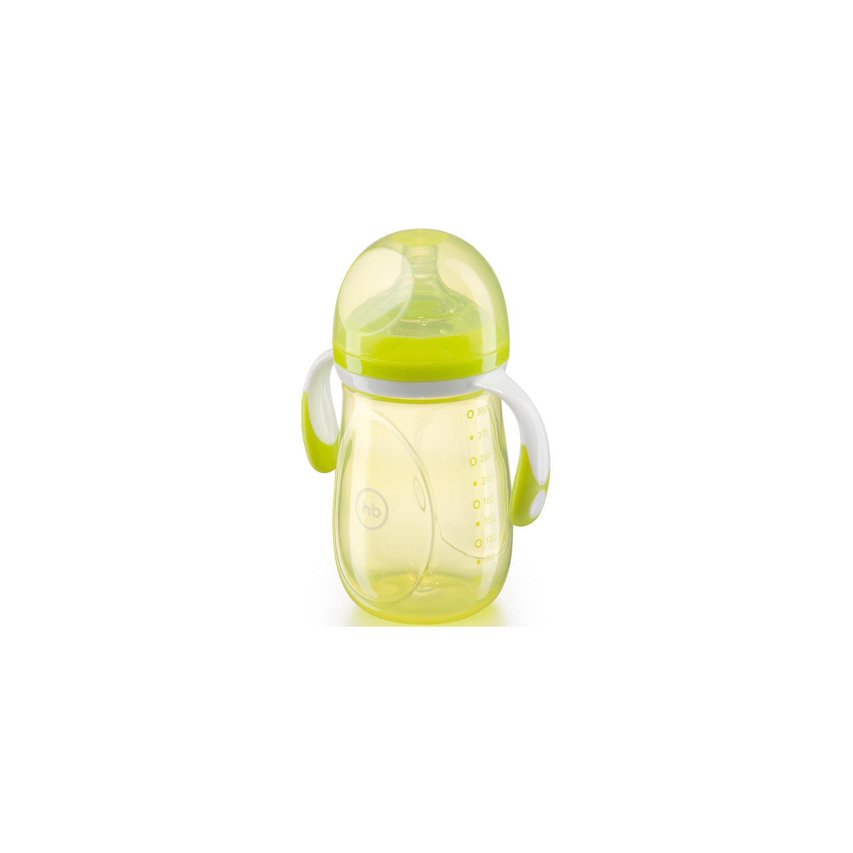 Бутылочка для кормления  c антиколиковой соской, 300 мл, Happy Baby, лайм300 - 380 мл.<br>Как известно, в первые несколько месяцев жизни малыша, его пищеварительная система может работать с перебоями. Она пытается приспособиться к новым непростым условиям. В результате кроха может страдать от повышенного газообразования, которое приводит к болезненным ощущениям и коликам в кишечнике. При этом ребенок может плакать, кричать и капризничать.  Бутылочка для кормления  c антиколиковой соской, 300 мл, Happy Baby, лайм позволяет бороться с образованием коликов у малышей в первые месяцы жизни и создаёт максимальный комфорт при кормлении. Благодаря соске с антиколиковыми клапанами, воздух не смешивается со смесью и выходит через клапаны, что препятствует повышенному газообразованию и вздутию животика. Естественная физиологичная форма мягкой силиконовой соски позволяет ребенку захватывать её широко раскрытым ртом также, как и грудь мамы, что способствует сохранению грудного вскармливания. <br>Бутылочка имеет съемные ручки с антискользящим покрытием, удобную шкалу с делениями в 30мл, комплектуется соской с медленным потоком, а удобная форма позволяет прочно удерживать её в руке. <br><br>Дополнительная информация:<br><br>-  широкое горло<br>-  медленный поток<br> - антиколиковая силиконовая соска<br> - съемные ручки с антискользящим покрытие<br> - удобная форма для прочного удерживания в руке<br>- герметичная крышка<br>- шкала с делением в 30 мл.<br>- возраст ребенка: от 0 месяцев<br>- материал полипропилен, силикон, эластомер<br><br>Бутылочку  для кормления с антиколиковой соской, 300 мл, Happy Baby, лайм можно купить в нашем интернет- магазине<br><br>Ширина мм: 70<br>Глубина мм: 125<br>Высота мм: 210<br>Вес г: 123<br>Возраст от месяцев: 0<br>Возраст до месяцев: 12<br>Пол: Унисекс<br>Возраст: Детский<br>SKU: 4696787