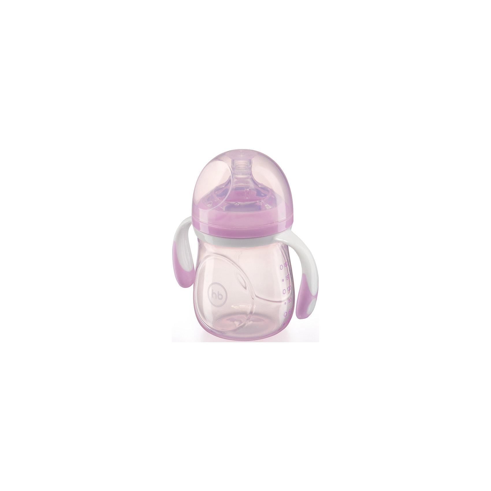 Happy Baby Бутылочка для кормления с антиколиковой соской, 180 мл, Happy Baby, фиолетовый happy baby набор ложек для кормления baby spoon цвет мятный 2 шт