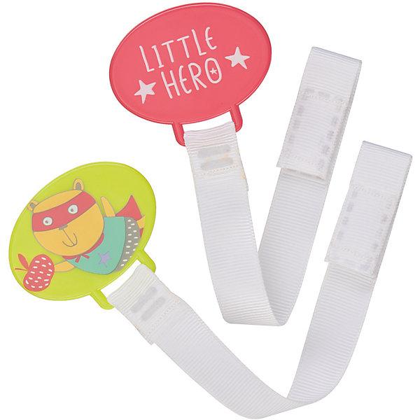 Набор держателей для пустышки HOLDER X2, Happy BabyПустышки<br>Набор держателей для пустышки HOLDER X2, Happy Baby можно использовать как для пустышки, так и для прорезывателя. Благодаря надежному креплению Вы можете быть уверены в том, что пустышка или прорезыватель не потеряются и всегда будут чистыми. Удобно брать с собой.<br>В наборе 2 штуки.<br><br>Дополнительна информация:<br><br>- материал: полипропилен, нейлон.<br>- упаковка:  блистер<br>- прочное крепление<br>- можно использовать для пустышки и прорезывателя <br>- удобно брать с собой<br><br>Набор держателей для пустышки HOLDER X2, Happy Baby можно купить в нашем интернет-магазине.<br>Ширина мм: 20; Глубина мм: 120; Высота мм: 180; Вес г: 26; Возраст от месяцев: 0; Возраст до месяцев: 12; Пол: Унисекс; Возраст: Детский; SKU: 4696792;