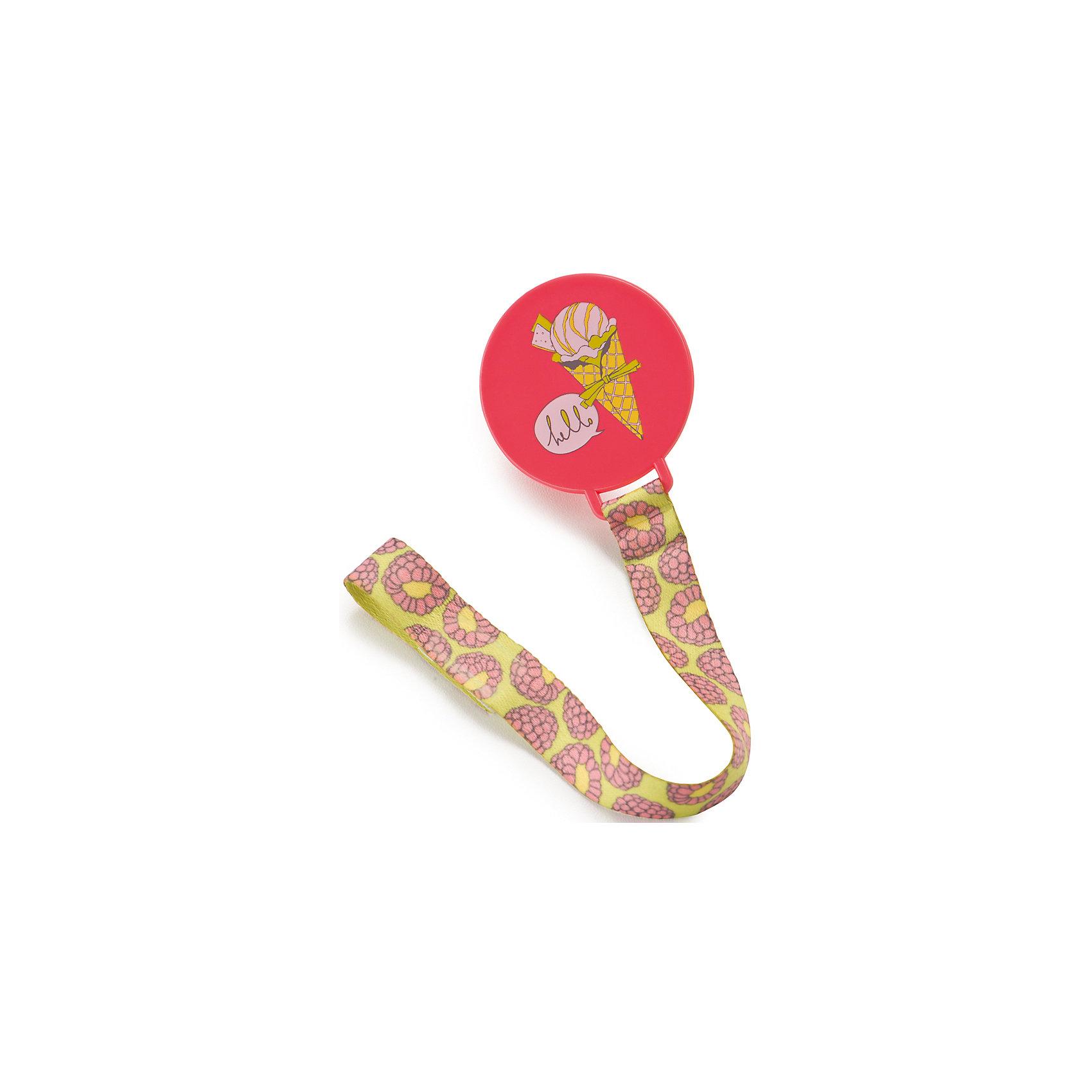 Держатель для пустышки, Happy Baby, розовыйКлипса-держатель для пустышки Happy Baby  розовый изготовлена из безопасного и качественного материала. С таким держателем вы сможете избежать ситуации, когда пустышка падает, теряется или становится грязной. Клипса-держатель снабжена мягким ремешком, который прикрепляется к пустышке, а сама клипса легко пристегивается к нагруднику, одежде ребенка или коляске.<br>Не содержит бисфенол-А.<br><br>Дополнительная информация:<br><br>-не даст пустышке упасть<br>- возможность использовать как для пустышки, так и для прорезывателя<br>- прочное крепление благодаря надежному зажиму<br>- удобно брать с собой<br>- яркий дизайн<br>- материал -abs пластик, полипропилен<br><br>Держатель для пустышки, Happy Baby, розовый можно купить в нашем интернет-магазине.<br><br>Ширина мм: 50<br>Глубина мм: 65<br>Высота мм: 170<br>Вес г: 45<br>Возраст от месяцев: 0<br>Возраст до месяцев: 12<br>Пол: Унисекс<br>Возраст: Детский<br>SKU: 4696802