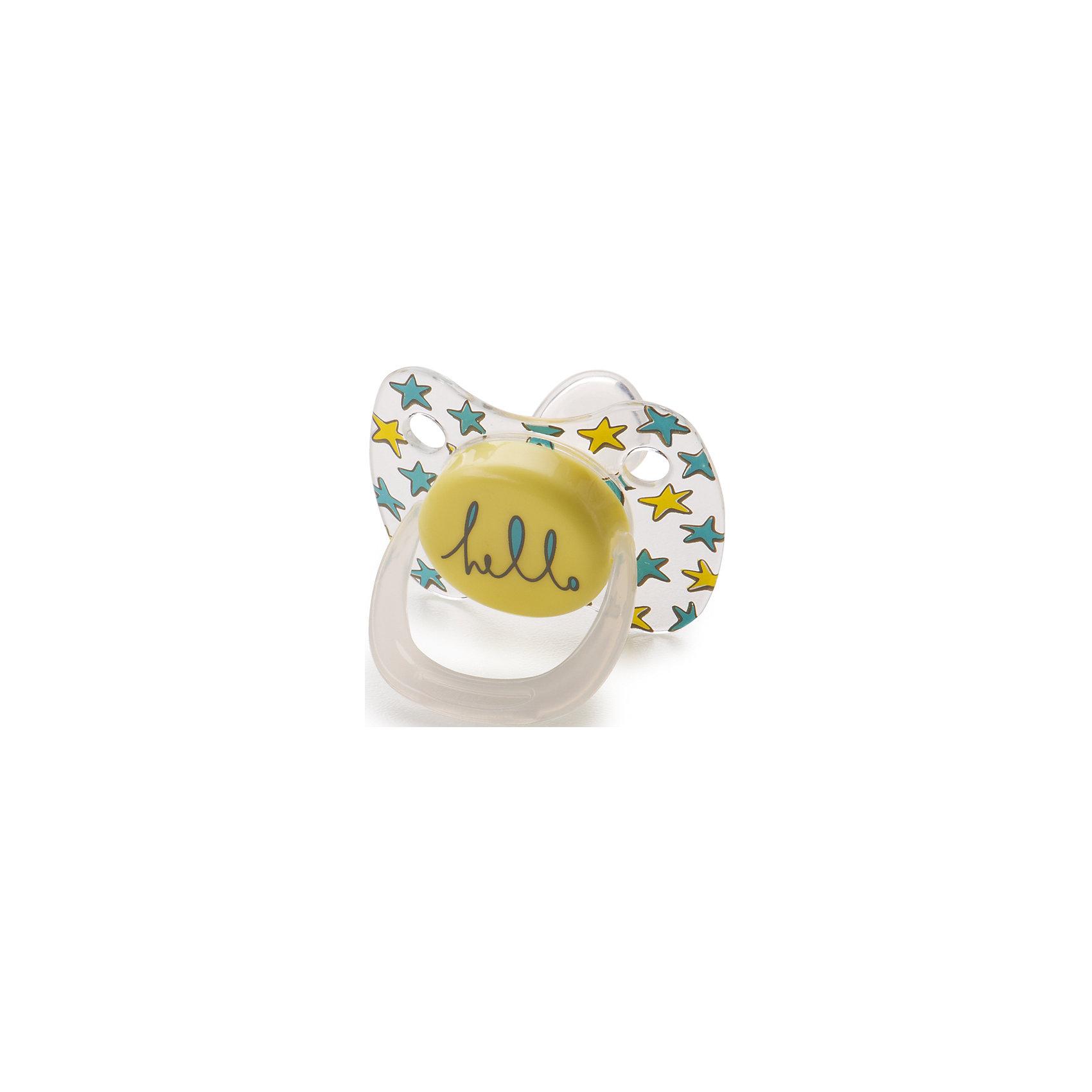 Соска-пустышка ортодонтической формы с колпачком, с 0 мес., Happy Baby, жёлтыйПустышки из силикона<br>Соска-пустышка ортодонтической формы с колпачком, с 0 мес.,  от торговой марки «Happy Baby», жёлтый комфортна в использовании. Пустышка удобна в использовании: ее можно легко прицепить на клипсу за кольцо. Аккуратная форма соска обеспечивает Малышу удобство и комфорт.Форма нагубника с симметрично расположенными отверстиями обеспечивает свободное дыхание и предотвращает раздражение кожи. В комплект входит колпачок. Форма: скошенный сосок.<br><br>Дополнительная информация:<br><br>-силиконовая пустышка симметричной формы<br>- вентиляционные отверстия в носогубнике<br>- симметричная форма носогубника<br>- яркий и стильный дизайн<br>- колпачок в комплекте<br>- материал: тритан, полипропилен, силикон.<br>- форма: классическая<br>- особенности: не содержит бисфенол А, с вентиляционной системой<br>- размеры: 55* 50 *40 мм<br>- размер упаковки: 5*6,3*13,5 см.<br>- состав: соска-пустышка, колпачок<br>- вес в упаковке, 35 г<br><br>Соску-пустышку ортодонтической формы с колпачком, с 0 мес., Happy Baby, жёлтый можно купить в нашем интернет-магазине.<br><br>Ширина мм: 50<br>Глубина мм: 65<br>Высота мм: 135<br>Вес г: 45<br>Возраст от месяцев: 0<br>Возраст до месяцев: 12<br>Пол: Унисекс<br>Возраст: Детский<br>SKU: 4696817