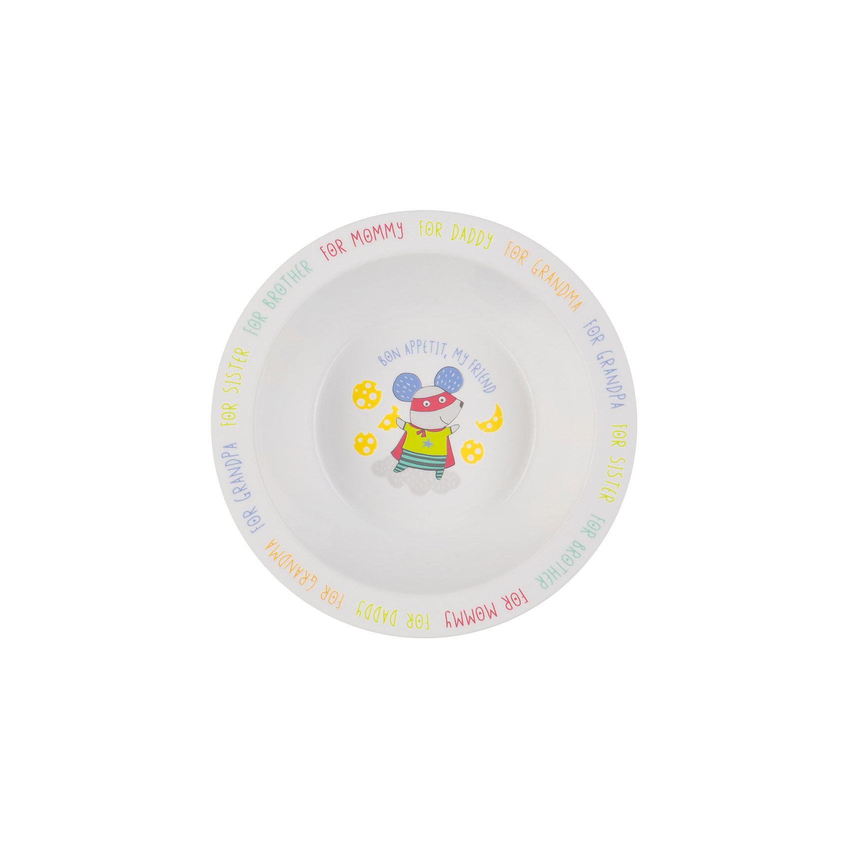 Тарелка глубокая Mouse, Happy BabyГлубокая тарелочка Mouse, Happy Baby прекрасно подойдёт для первого прикорма и самостоятельных приёмов пищи. Качественный и прочный материал не позволит тарелочке разбиться при случайном падении, а широкие края делают её более удобной для использования. Забавный рисунок на дне тарелки поможет маме заинтересовать ребёнка во время кормления. Тарелка глубокая Mouse, Happy Baby помогает малыша есть из посуды для взрослых; не бьется при случайном падении.  Имеет широкие края , глубокая, а забавный рисунок на дне поможет заинтересовать ребенка.<br><br>Дополнительная информация: <br><br>- материал : полипропилен, термопластичный эластомер<br>- дизайн: животные<br>- диаметр: 16,5 см<br>- высота, 6 см<br>- цвет белый, бирюзовый, собака<br>- размеры, 165 * 60 * 60 мм<br>- размер упаковки (ДхШхВ), 22 * 15 * 6  см<br>- вес в упаковке, 85 г<br><br>Тарелку глубокую Mouse, Happy Baby можно купить в нашем интернет-магазине.<br><br>Ширина мм: 50<br>Глубина мм: 165<br>Высота мм: 210<br>Вес г: 58<br>Возраст от месяцев: 6<br>Возраст до месяцев: 18<br>Пол: Унисекс<br>Возраст: Детский<br>SKU: 4696836