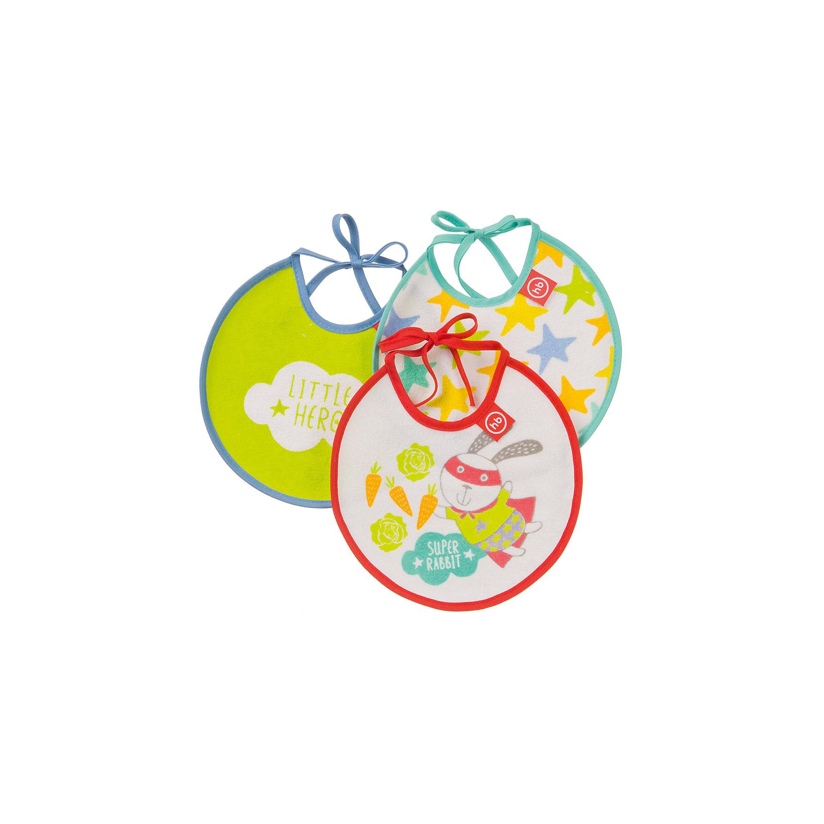 Набор нагрудных фартуков Rabbit, Happy BabyНагрудники и салфетки<br>С раннего возраста ребенок приучается к опрятности и постигает науку культурного принятия пищи. Набор нагрудных фартуков Rabbit, Happy Baby поможет сделать это красиво, окружив малыша соответствующими аксессуарами. Набор нагрудных фартуков Rabbit, Happy Baby подарит малышу хорошее настроение и надежную защиту от загрязнений во время еды. Благодаря небольшому размеру, слюнявчики прекрасно подойдут для самых маленьких малышей.<br><br>Дополнительная информация:<br> <br>- возраст ребенка: от 3 месяцев<br>- материал хлопок<br>- количество в упаковке: 2шт.<br>- размеры фартука:  200 *160   мм<br>- размер упаковки (ДхШхВ): 28 *21 * 0.2 см<br>- комплектация: 2 фартука<br>- вес в упаковке: 45 г<br><br>.Набор нагрудных фартуков Rabbit, Happy Baby можно купить в нашем интернет-магазине.<br><br>Ширина мм: 5<br>Глубина мм: 310<br>Высота мм: 390<br>Вес г: 50<br>Возраст от месяцев: 6<br>Возраст до месяцев: 18<br>Пол: Унисекс<br>Возраст: Детский<br>SKU: 4696839