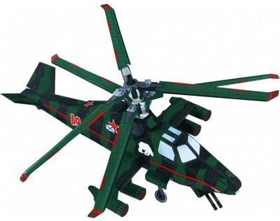 Умная Бумага Сборная модель Вертолет Медведь