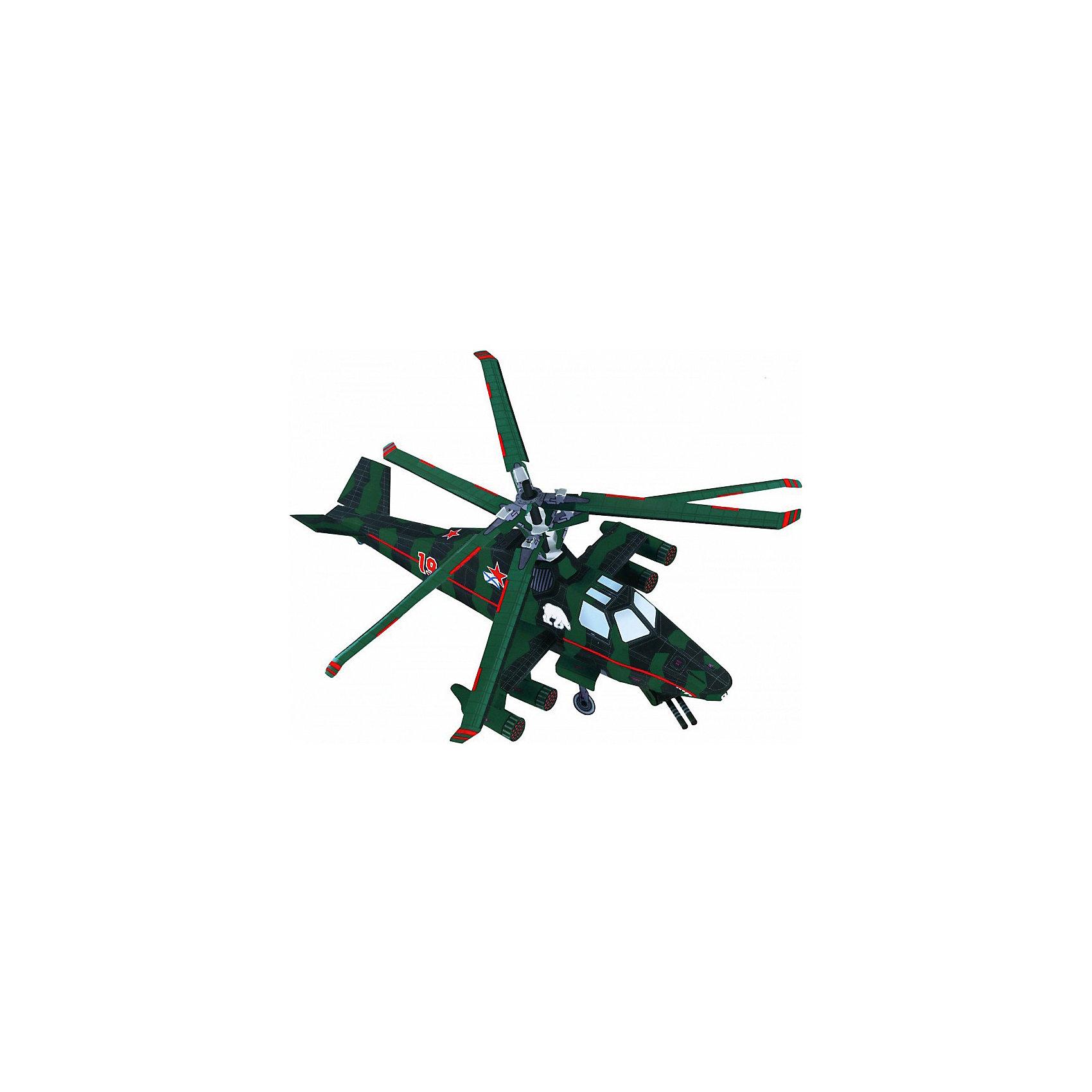 Сборная модель Вертолет МедведьВертолет Медведь - новейший российский вертолёт, оснащенный самым современным вооружением и оборудованием, позволяющим вести боевые действия в любое время суток и при любой погоде. Высокая степень детализации и реалистичные детали делают сборку конструктора очень интересным занятием. Принцип соединения деталей запатентован: все соединения разработаны и рассчитаны с такой точностью, что с правильно собранной игрушкой можно играть, как с обычной. Конструирование - увлекательный и полезный процесс, развивающий мелкую моторику, внимание, усидчивость, пространственное мышление и фантазию. <br>Все сборные модели «Умная Бумага» разрабатываются на основе чертежей и фотографий оригинала. В их оформлении широко используются современные способы обработки бумаги для передачи рельефности поверхности, а для имитации хромированных и золоченых элементов применяется тиснение фольгой.<br><br>Дополнительная информация:<br><br>- Материал: картон.<br>- Размер упаковки: 22х30 см.<br>- Высота модели: 28х16х14 см.<br>- Количество деталей: 38.<br><br>Сборную модель Вертолет Медведь можно купить в нашем магазине.<br><br>Ширина мм: 217<br>Глубина мм: 335<br>Высота мм: 3<br>Вес г: 70<br>Возраст от месяцев: 72<br>Возраст до месяцев: 168<br>Пол: Мужской<br>Возраст: Детский<br>SKU: 4697716
