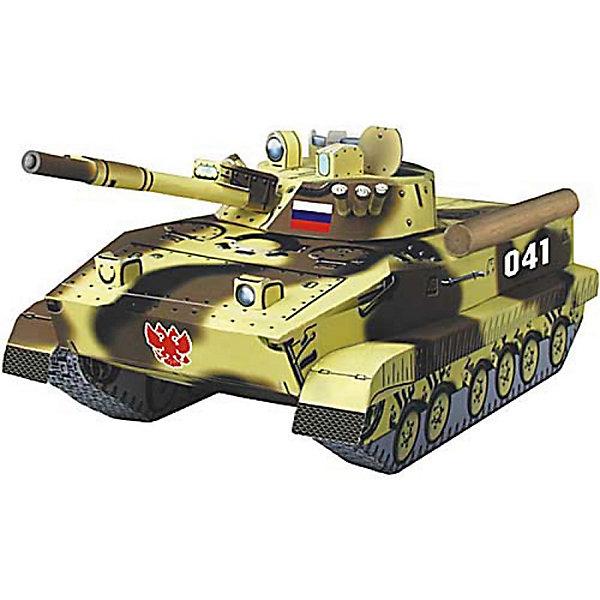 Сборная модель БМП 3Модели из бумаги<br>БМП-3 (Боевая Машина Пехоты-3) — боевая бронированная гусеничная машина, предназначенная для транспортировки личного состава, повышения его мобильности, вооружённости и защищённости на поле боя в условиях применения ядерного оружия и совместных действий с танками в бою. Высокая степень детализации и реалистичные детали делают сборку конструктора очень интересным занятием. Принцип соединения деталей запатентован: все соединения разработаны и рассчитаны с такой точностью, что с правильно собранной игрушкой можно играть, как с обычной. Конструирование увлекательный и полезный процесс, развивающий мелкую моторику, внимание, усидчивость, пространственное мышление и фантазию. <br>Все сборные модели «Умная Бумага» разрабатываются на основе чертежей и фотографий оригинала. В их оформлении широко используются современные способы обработки бумаги для передачи рельефности поверхности, а для имитации хромированных и золоченых элементов применяется тиснение фольгой.<br><br><br>Дополнительная информация:<br><br>- Материал: картон.<br>- Масштаб: 1:35 <br>- Размер упаковки: 30х21 см.<br><br>Сборную модель Сборная модель БМП 3 можно купить в нашем магазине.<br><br>Ширина мм: 218<br>Глубина мм: 331<br>Высота мм: 2<br>Вес г: 60<br>Возраст от месяцев: 72<br>Возраст до месяцев: 168<br>Пол: Мужской<br>Возраст: Детский<br>SKU: 4697719
