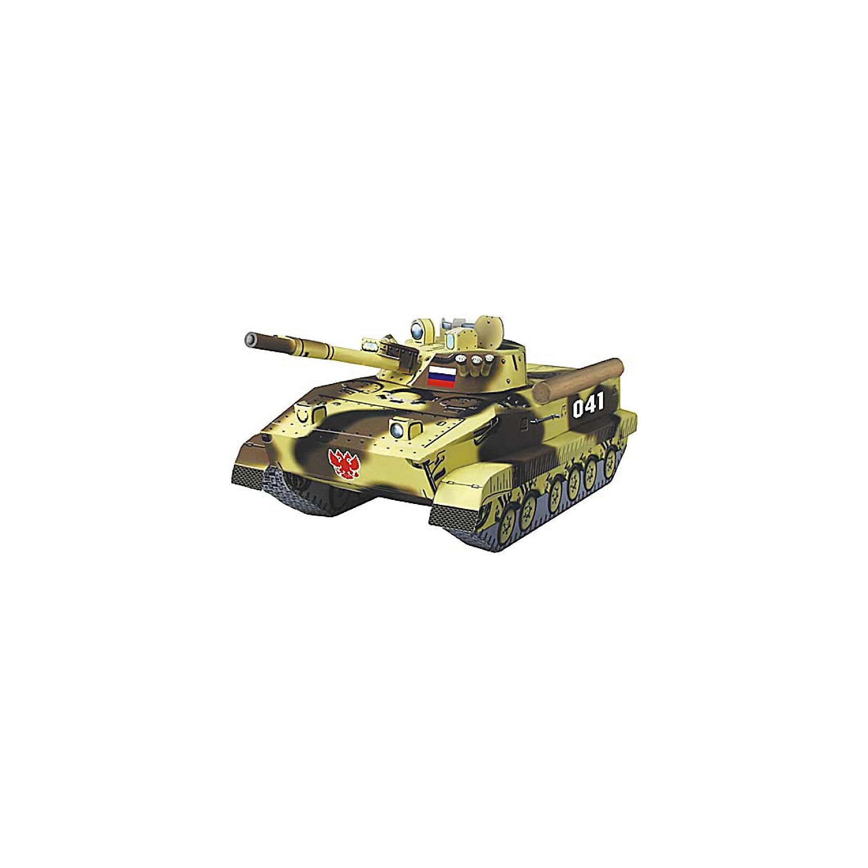 Сборная модель БМП 3БМП-3 (Боевая Машина Пехоты-3) — боевая бронированная гусеничная машина, предназначенная для транспортировки личного состава, повышения его мобильности, вооружённости и защищённости на поле боя в условиях применения ядерного оружия и совместных действий с танками в бою. Высокая степень детализации и реалистичные детали делают сборку конструктора очень интересным занятием. Принцип соединения деталей запатентован: все соединения разработаны и рассчитаны с такой точностью, что с правильно собранной игрушкой можно играть, как с обычной. Конструирование увлекательный и полезный процесс, развивающий мелкую моторику, внимание, усидчивость, пространственное мышление и фантазию. <br>Все сборные модели «Умная Бумага» разрабатываются на основе чертежей и фотографий оригинала. В их оформлении широко используются современные способы обработки бумаги для передачи рельефности поверхности, а для имитации хромированных и золоченых элементов применяется тиснение фольгой.<br><br><br>Дополнительная информация:<br><br>- Материал: картон.<br>- Масштаб: 1:35 <br>- Размер упаковки: 30х21 см.<br><br>Сборную модель Сборная модель БМП 3 можно купить в нашем магазине.<br><br>Ширина мм: 218<br>Глубина мм: 331<br>Высота мм: 2<br>Вес г: 60<br>Возраст от месяцев: 72<br>Возраст до месяцев: 168<br>Пол: Мужской<br>Возраст: Детский<br>SKU: 4697719