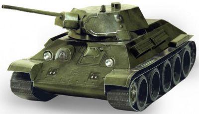 Умная Бумага Сборная модель Танк Т-34 обр. 1941 г. (зеленый)