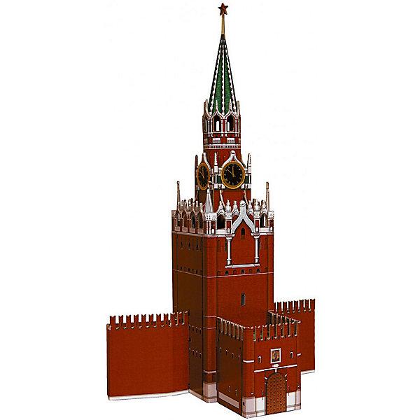 Сборная модель Спасская башняКартонные модели<br>Этим набором издательство открывает цикл моделей башен Московского Кремля. Высокая степень детализации и реалистичные детали делают сборку конструктора очень интересным занятием. Модель собирается без ножниц и клея. Все соединения разработаны и рассчитаны с большой точностью. Конструирование -увлекательный и полезный процесс, развивающий мелкую моторику, внимание, усидчивость, пространственное мышление и фантазию.<br><br>Дополнительная информация:<br><br>- Материал: картон.<br>- Размер упаковки: 18х26 см.<br>- Размер модели: 19х11х32 см. <br><br>Сборную модель Спасская башня можно купить в нашем магазине.<br><br>Ширина мм: 181<br>Глубина мм: 263<br>Высота мм: 23<br>Вес г: 310<br>Возраст от месяцев: 72<br>Возраст до месяцев: 168<br>Пол: Унисекс<br>Возраст: Детский<br>SKU: 4697730
