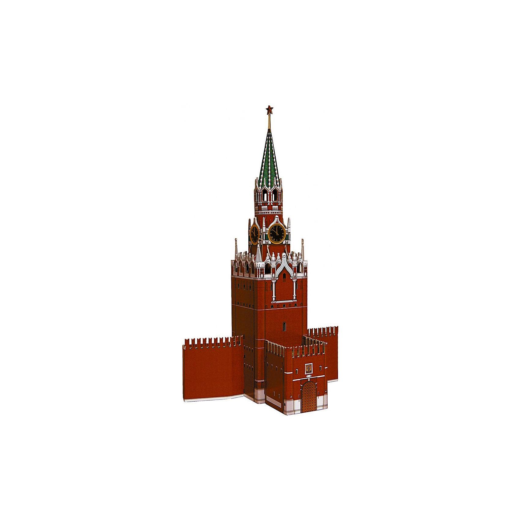 Сборная модель Спасская башняМодели из картона и бумаги<br>Этим набором издательство открывает цикл моделей башен Московского Кремля. Высокая степень детализации и реалистичные детали делают сборку конструктора очень интересным занятием. Модель собирается без ножниц и клея. Все соединения разработаны и рассчитаны с большой точностью. Конструирование -увлекательный и полезный процесс, развивающий мелкую моторику, внимание, усидчивость, пространственное мышление и фантазию.<br><br>Дополнительная информация:<br><br>- Материал: картон.<br>- Размер упаковки: 18х26 см.<br>- Размер модели: 19х11х32 см. <br><br>Сборную модель Спасская башня можно купить в нашем магазине.<br><br>Ширина мм: 181<br>Глубина мм: 263<br>Высота мм: 23<br>Вес г: 310<br>Возраст от месяцев: 72<br>Возраст до месяцев: 168<br>Пол: Унисекс<br>Возраст: Детский<br>SKU: 4697730