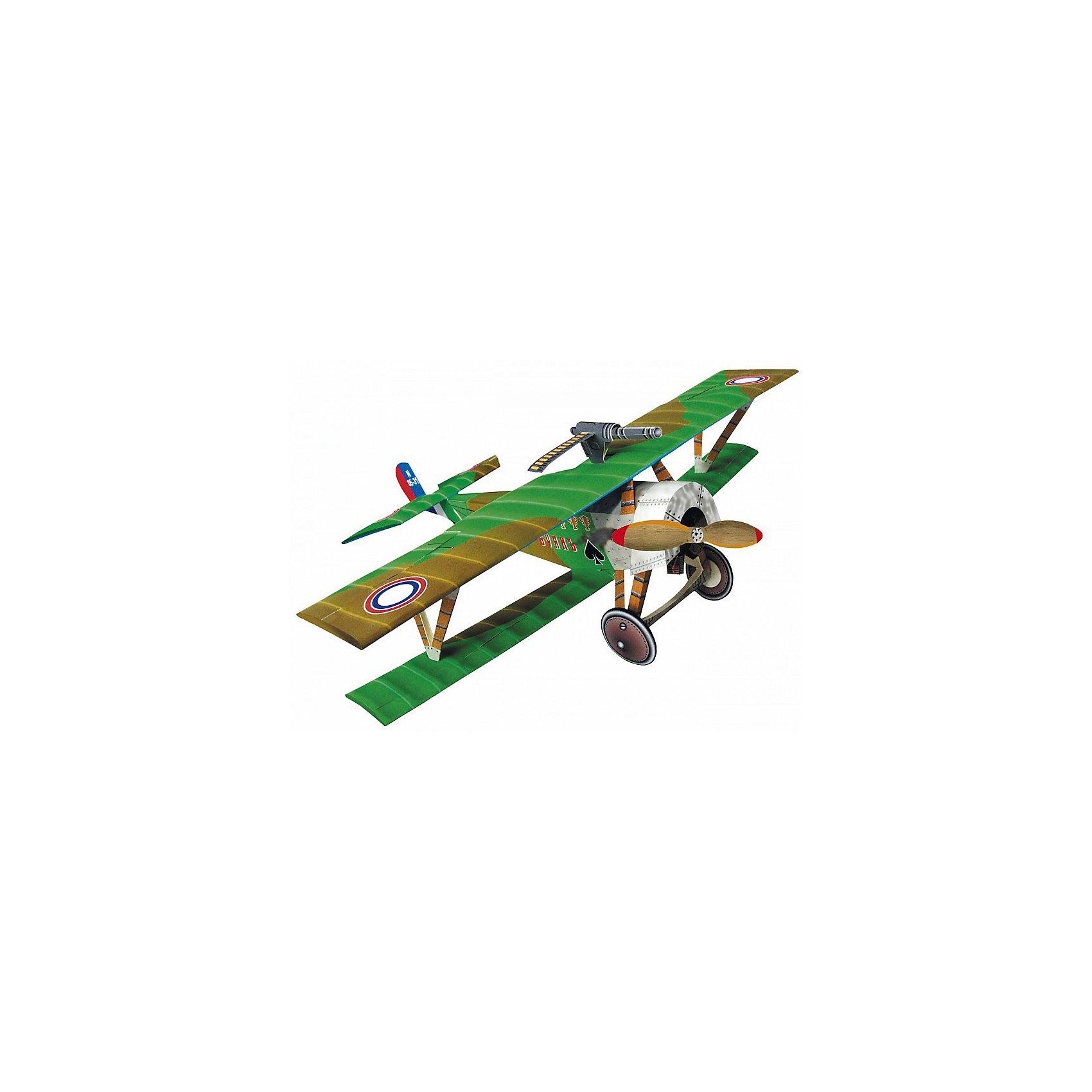 Сборная модель Биплан Ньюпор-16Бумажные модели<br>Биплан «Ньюпор» - боевой самолет. На таких самолетах пилоты стран Антанты бились в небесах во время Первой мировой войны с немецкими и австро-венгерскими летчиками.  Высокая степень детализации и реалистичные детали делают сборку конструктора очень интересным занятием. Принцип соединения деталей запатентован: все соединения разработаны и рассчитаны с такой точностью, что с правильно собранной игрушкой можно играть, как с обычной. Конструирование увлекательный и полезный процесс, развивающий мелкую моторику, внимание, усидчивость, пространственное мышление и фантазию. <br>Все сборные модели «Умная Бумага» разрабатываются на основе чертежей и фотографий оригинала. В их оформлении широко используются современные способы обработки бумаги для передачи рельефности поверхности, а для имитации хромированных и золоченых элементов применяется тиснение фольгой.<br><br>Дополнительная информация:<br><br>- Материал: картон.<br>- 20 деталей. <br>- Размер упаковки: 22х34 см.<br><br>Сборную модель Биплан Ньюпор-16 можно купить в нашем магазине.<br><br>Ширина мм: 219<br>Глубина мм: 335<br>Высота мм: 3<br>Вес г: 140<br>Возраст от месяцев: 72<br>Возраст до месяцев: 168<br>Пол: Мужской<br>Возраст: Детский<br>SKU: 4697732