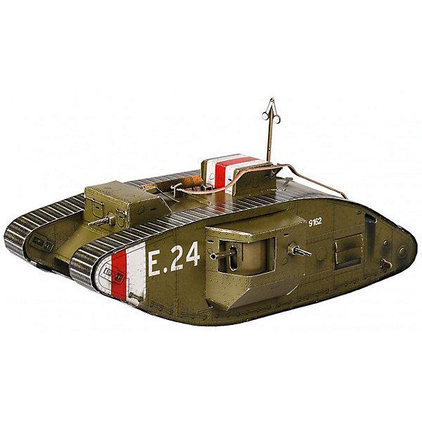 Сборная модель Танк MARK-VМодели из бумаги<br>Танк MARK-V - британский тяжелый танк времен Первой мировой войны. Высокая степень детализации и реалистичные детали делают сборку конструктора очень интересным занятием. Принцип соединения деталей запатентован: все соединения разработаны и рассчитаны с такой точностью, что с правильно собранной игрушкой можно играть, как с обычной. Конструирование увлекательный и полезный процесс, развивающий мелкую моторику, внимание, усидчивость, пространственное мышление и фантазию. <br>Все сборные модели «Умная Бумага» разрабатываются на основе чертежей и фотографий оригинала. В их оформлении широко используются современные способы обработки бумаги для передачи рельефности поверхности, а для имитации хромированных и золоченых элементов применяется тиснение фольгой.<br><br>Дополнительная информация:<br><br>- Материал: картон.<br>- Масштаб: 1:35.<br>- Размер модели: 24 см.<br>- 63 деталей.<br>- Размер упаковки: 30х22 см.<br><br>Сборную модель Танк MARK-V можно купить в нашем магазине.<br>Ширина мм: 311; Глубина мм: 218; Высота мм: 16; Вес г: 170; Возраст от месяцев: 72; Возраст до месяцев: 168; Пол: Мужской; Возраст: Детский; SKU: 4697736;
