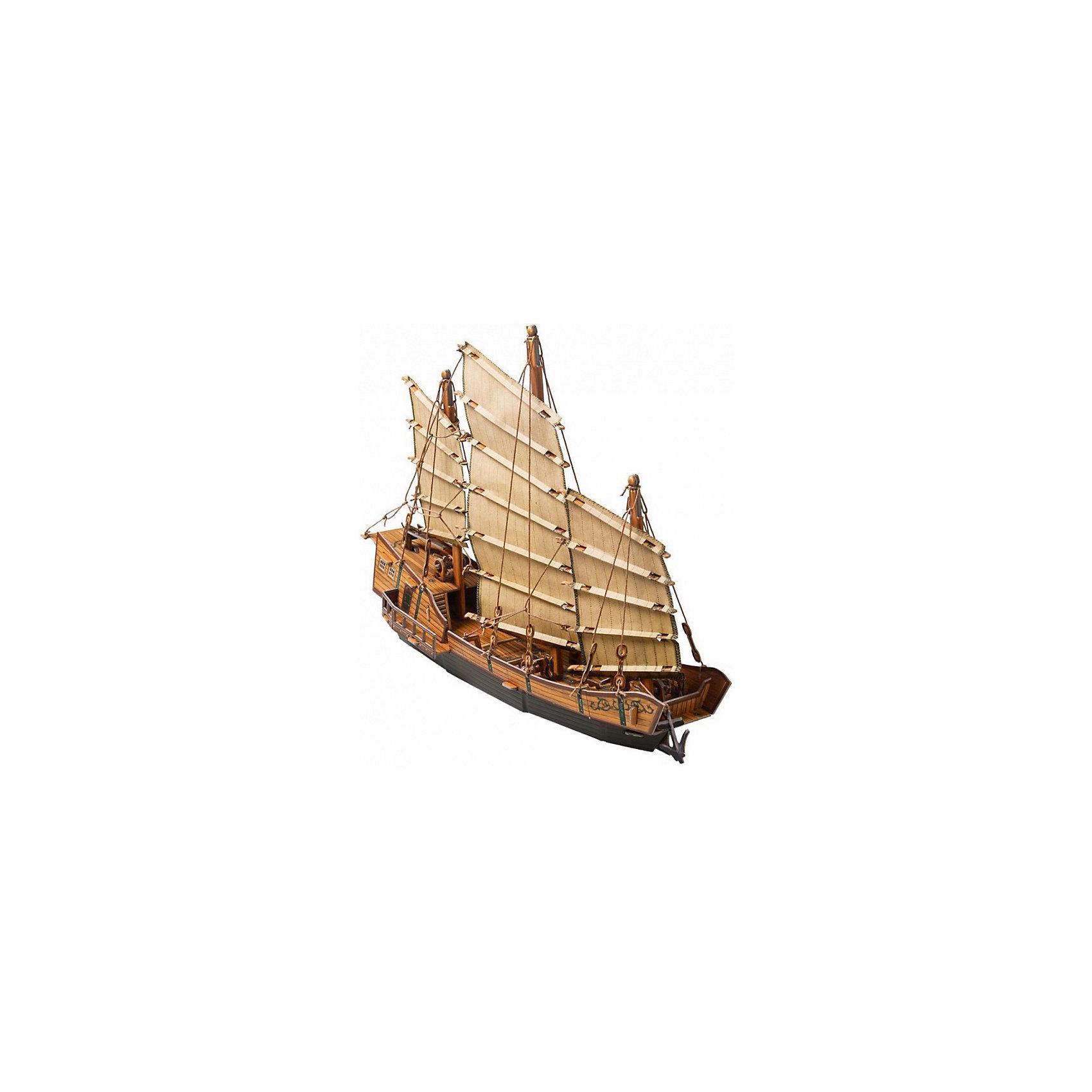 Сборная модель ДжонкаМодели из картона и бумаги<br>Джонка - традиционное китайское парусное судно, известное уже более двух тысячелетий. Джонки применялись не только как промысловое или транспортное судно, но и в военных целях. Высокая степень детализации и реалистичные детали делают сборку конструктора очень интересным занятием. Принцип соединения деталей запатентован: все соединения разработаны и рассчитаны с такой точностью, что с правильно собранной игрушкой можно играть, как с обычной. Конструирование увлекательный и полезный процесс, развивающий мелкую моторику, внимание, усидчивость, пространственное мышление и фантазию. <br>Все сборные модели «Умная Бумага» разрабатываются на основе чертежей и фотографий оригинала. В их оформлении широко используются современные способы обработки бумаги для передачи рельефности поверхности, а для имитации хромированных и золоченых элементов применяется тиснение фольгой.<br><br>Дополнительная информация:<br><br>- Материал: картон.<br>- Размер модели: 35 см.<br>- Размер упаковки: 37х25 см.<br>- Модель из картона не предназначена для игр в воде.<br><br>Сборную модель Джонка можно купить в нашем магазине.<br><br>Ширина мм: 367<br>Глубина мм: 252<br>Высота мм: 20<br>Вес г: 380<br>Возраст от месяцев: 72<br>Возраст до месяцев: 168<br>Пол: Унисекс<br>Возраст: Детский<br>SKU: 4697740