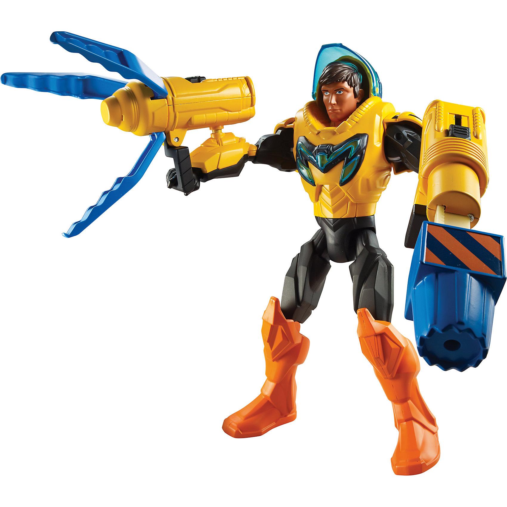 Макс Стил: кувалдаКоллекционные и игровые фигурки<br>Макс Стил: кувалда <br><br>Фигурка из серии Max Steel сделана по образу героя одноименного мультсериала, имеет высокую степень детализации. Герой - в оранжево-черных доспехах, а на его голове надет защитный синий шлем.<br>В комплекте идут 2 вида оружия: кувалда и бластер, они присоединяются к рукам фигурки. С помощью рычагов можно выдвигать кувалду или управлять бластером. Фигурка изготовлена из высококачественных, легких и безопасных для детей материалов, ноги и руки сгибаются в суставах. Станет отличным подарком! <br><br>Дополнительная информация:<br><br>цвет: разноцветный;<br>комплект: фигурка, шлем, оружие;<br>материал: пластик.<br><br>Макс Стил: кувалда можно купить в нашем магазине.<br><br>Ширина мм: 85<br>Глубина мм: 270<br>Высота мм: 305<br>Вес г: 730<br>Возраст от месяцев: 48<br>Возраст до месяцев: 96<br>Пол: Мужской<br>Возраст: Детский<br>SKU: 4697979