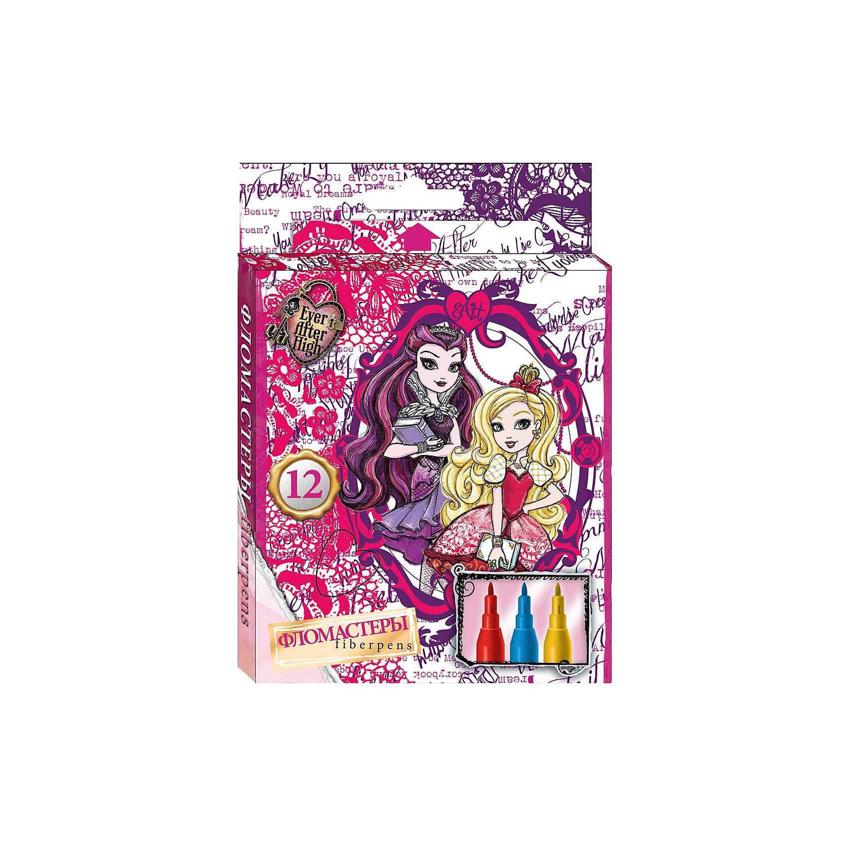 Фломастеры 12 цв., Ever After HighФломастеры 12 цв., Ever After High (Долго и счастливо)– это прекрасный набор для детского творчества.<br>Фломастеры Ever After High (Долго и счастливо) предназначенные для рисования и раскрашивания, помогут вашей малышке создать неповторимые яркие картинки. Набор включает в себя фломастеры 12 ярких насыщенных цветов в разноцветных корпусах. Каждый фломастер оснащен плотным колпачком, надежно защищающим чернила от испарения. Пишущий край стержня достаточно тонкий, поэтому можно проводить ровные линии ярких цветов. Широкая гамма цветов удовлетворит самый взыскательный вкус, а рисунок на упаковке, изображающий учениц школы «Долго и счастливо» поднимет настроение любой девочке.<br><br>Дополнительная информация:<br><br>- В наборе: 12 фломастеров<br>- Материал корпуса: пластик<br>- Упаковка: картонная коробка с европодвесом<br>- Размер упаковки: 9х165х115 мм.<br>- Вес: 74 гр.<br><br>Фломастеры 12 цв., Ever After High (Долго и счастливо) можно купить в нашем интернет-магазине.<br><br>Ширина мм: 9<br>Глубина мм: 165<br>Высота мм: 115<br>Вес г: 74<br>Возраст от месяцев: 48<br>Возраст до месяцев: 96<br>Пол: Унисекс<br>Возраст: Детский<br>SKU: 4700007