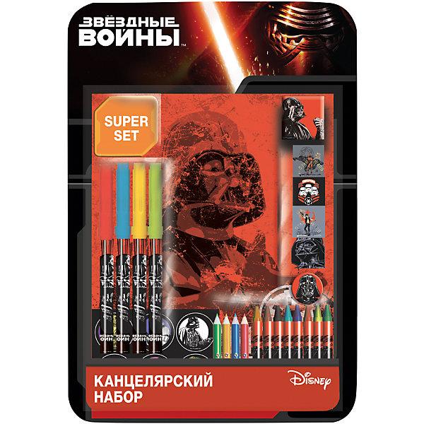 Подарочный набор в 3D блистере Lucasfilm, Star WarsЗвездные войны Товары для школы<br>Подарочный набор для творчества Lucasfilm Star Wars. <br><br>Дополнительнеая информация:<br><br>Состав набора: 4 фломастера, 4 штампа, штемпельная подушка, точилка, 4 цвет. карандаша, 8 мелков, 2 листа наклеек.<br><br>Подарочный набор в 3D блистере Lucasfilm, Star Wars можно купить в нашем магазине.<br>Ширина мм: 345; Глубина мм: 20; Высота мм: 235; Вес г: 296; Возраст от месяцев: 48; Возраст до месяцев: 96; Пол: Мужской; Возраст: Детский; SKU: 4700009;