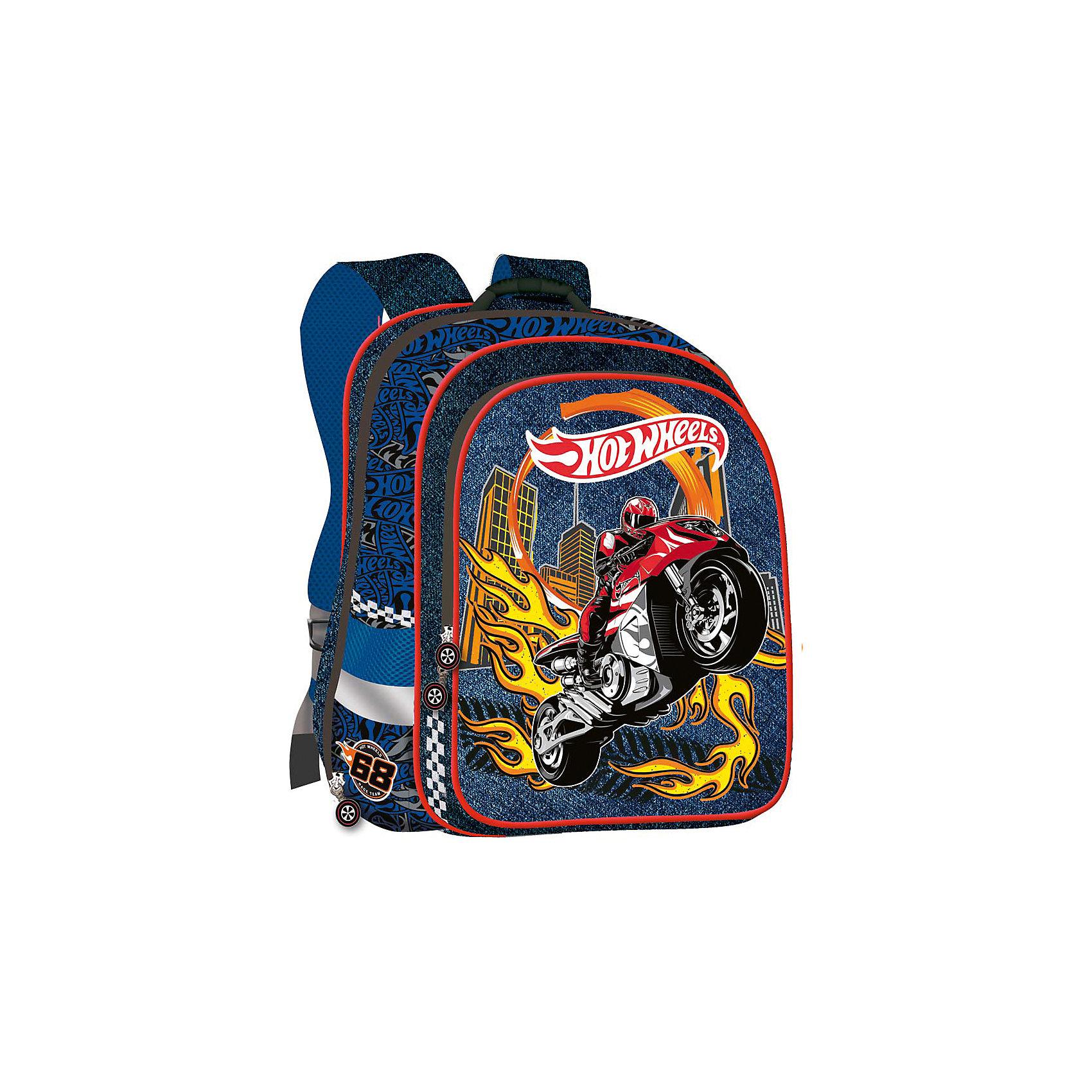 Ортопедический ранец Super bag, Hot WheelsОртопедический ранец Super bag, Hot Wheels (Хот Вилс) – это удобная форма, практичность, отличное качество и оптимальный вес.<br>Ортопедический ранец Super bag, Hot Wheels (Хот Вилс) – это удобный, вместительный, надежный и функциональный ранец. В этой модели реализованы все требования позволяющие, носить ранец с удобством и максимальным комфортом. Жесткий корпус, ортопедическая спинка помогают равномерно распределить вес ранца. Широкие уплотненные регулируемые лямки позволяют адаптировать ранец к изменению роста ребенка. Ранец имеет два больших отделения на молнии, внутреннее отделение для тетрадей, два боковых кармана для бутылочки и зонтика. Бегунки застежек-молний украшены брелоками. Предусмотрена удобная ручка для переноски ранца. Светоотражающие полосы сделают ребенка заметным на проезжей части в темное время суток и в сумерках.<br><br>Дополнительная информация:<br><br>- Размер упаковки: 33х42х14 см.<br>- Вес в упаковки: 1000 гр.<br><br>Ортопедический ранец Super bag, Hot Wheels (Хот Вилс) можно купить в нашем интернет-магазине.<br><br>Ширина мм: 330<br>Глубина мм: 420<br>Высота мм: 140<br>Вес г: 1000<br>Возраст от месяцев: 48<br>Возраст до месяцев: 96<br>Пол: Мужской<br>Возраст: Детский<br>SKU: 4700020