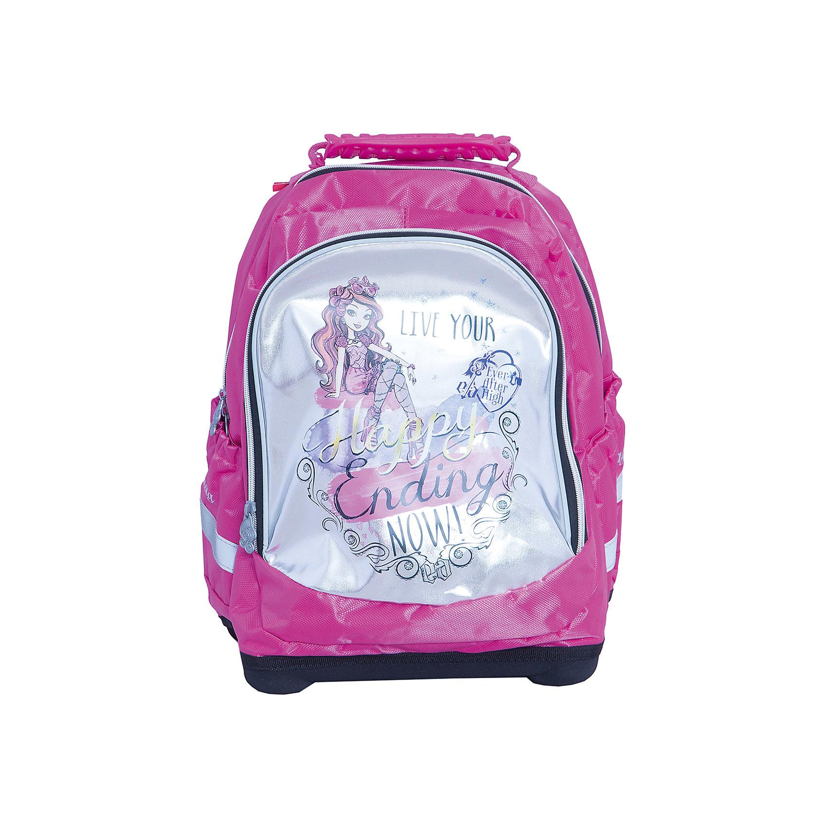 Ортопедический рюкзак Nice bag, Ever After HighEver After High Товары для фанатов<br>Ортопедический рюкзак Nice bag, Ever After High (Долго и счастливо) – этот удобный рюкзак станет незаменимым спутником вашего ребенка.<br>Ортопедический рюкзак Nice bag, Ever After High (Долго и счастливо) - это более мягкий, по сравнению с ранцем, эргономичный текстильный школьный рюкзак, обладающий оригинальным дизайном и большой вместительностью. Благодаря уплотненной вентилируемой спинке позвоночник ребенка не будет испытывать больших нагрузок во время эксплуатации рюкзака. Широкие уплотненные регулируемые лямки позволяют адаптировать рюкзак к изменению роста ребенка. Рюкзак имеет два отделения, закрывающиеся на застежки-молнии, боковые карманы. Жесткое дно оборудовано ножками для защиты от загрязнений. Предусмотрена удобная ручка для переноски. Светоотражающие полосы сделают ребенка заметным на проезжей части в темное время суток и в сумерках.<br><br>Дополнительная информация:<br><br>- Размер упаковки: 18х38х31 см.<br>- Вес в упаковке: 750 гр.<br><br>Ортопедический рюкзак Nice bag, Ever After High (Долго и счастливо) можно купить в нашем интернет-магазине.<br><br>Ширина мм: 180<br>Глубина мм: 380<br>Высота мм: 310<br>Вес г: 750<br>Возраст от месяцев: 72<br>Возраст до месяцев: 96<br>Пол: Женский<br>Возраст: Детский<br>SKU: 4700023