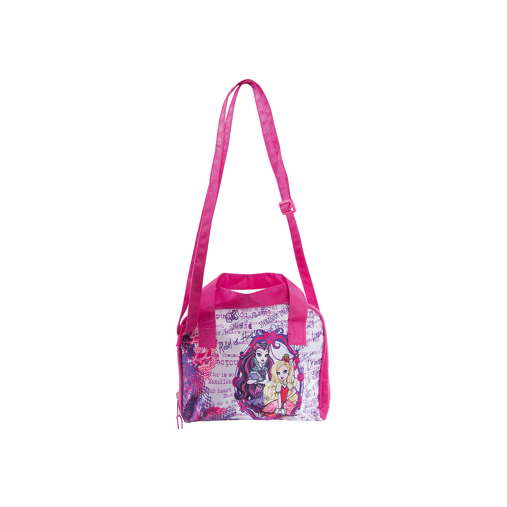 Сумка Сase bag, Ever After HighСумка Сase bag, Ever After High (Долго и счастливо) - это стильная сумочка, с которой Вашей девочке будет приятно ходить и на занятия, и на прогулку.<br>Любишь Эвер Афтер Хай и хочешь выделиться из толпы? Тогда тебе обязательно потребуется уникальная сумка в стиле Афтер Хай. Стильная сумка, изготовленная из высококачественных материалов, прочная и готовая прослужить долгое время уже ждет свою хозяйку! Сумка украшена изображениями очаровательных героинь популярного мультсериала Ever After High (Долго и счастливо) (Школа Долго и Счастливо). Сумочка закрывается на застежку-молнию и имеет две удобные ручки. Предусмотрен ремешок для ношения через плечо.<br><br>Дополнительная информация:<br><br>- Размер упаковки: 23х2,5х18,5 см.<br>- Вес в упаковке: 152 гр.<br><br>Сумку Сase bag, Ever After High (Долго и счастливо) можно купить в нашем интернет-магазине.<br><br>Ширина мм: 230<br>Глубина мм: 25<br>Высота мм: 185<br>Вес г: 152<br>Возраст от месяцев: 48<br>Возраст до месяцев: 96<br>Пол: Женский<br>Возраст: Детский<br>SKU: 4700029