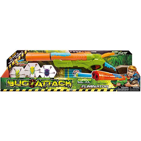 Ружье с мишенями Zuru X-Shot Атака ПауковИгрушечное оружие<br>Характеристики товара:<br><br>• возраст: от 8 лет<br>• материал: пластик, резина<br>• дальность действия: 17 метров<br>• в наборе: ружье, 8 патронов, 3 паука-мишени<br>• размер упаковки 67х21х7 см<br>• вес упаковки 580 г.<br>• страна бренда: Новая Зеландия<br>• страна производитель: Китай<br><br>Ружье с мишенями «Атака пауков» X-Shot Zuru — настоящее оружие для стрельбы по мишеням. Мишени выполнены в виде паучков, которых можно прикрепить к любой вертикальной поверхности. Как только пауки начнут двигаться, остается только хорошо прицелиться и стрелять по ним. Игрушка хорошо тренирует у детей внимательность, ловкость, меткость, учит концентрироваться и сосредотачиваться. <br><br>Ружье изготовлено из качественного пластика. Патроны выполнены из резины, они безопасны и не наносят травм.<br><br>Ружье с мишенями «Атака пауков» X-Shot Zuru можно приобрести в нашем интернет-магазине.<br><br>Ширина мм: 670<br>Глубина мм: 200<br>Высота мм: 70<br>Вес г: 680<br>Возраст от месяцев: 96<br>Возраст до месяцев: 144<br>Пол: Мужской<br>Возраст: Детский<br>SKU: 4700163