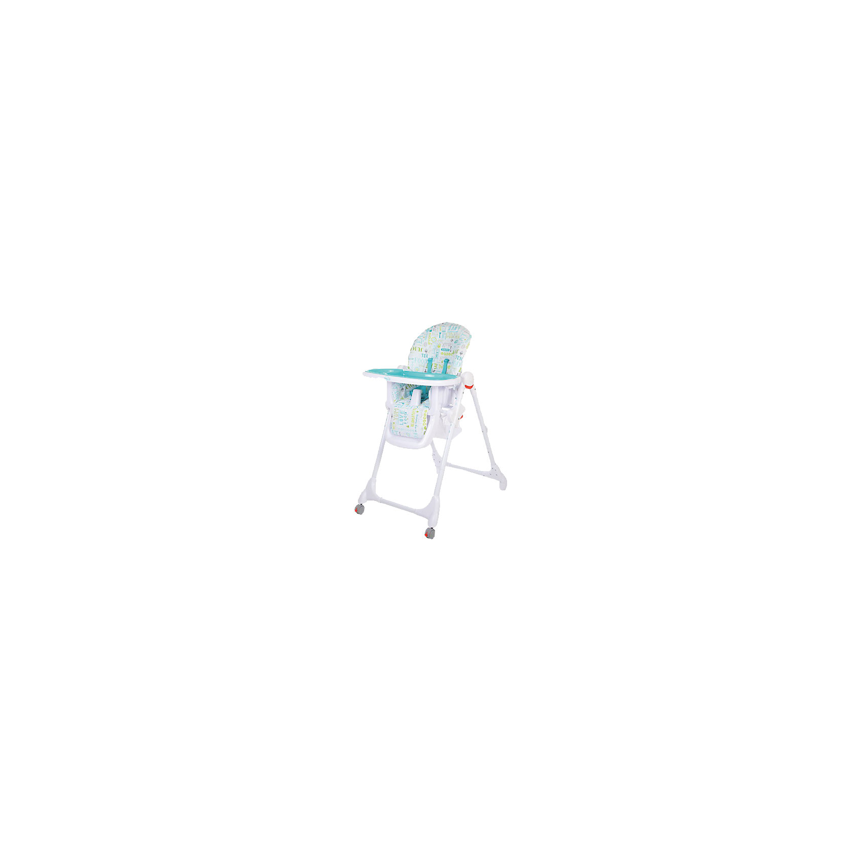 Стульчик для кормления Fiesta, Baby Care, голубойХарактеристики детского стульчика для кормления Baby Care Fiesta:<br><br>• регулируемая высота сиденья: 6 уровней;<br>• регулируемый наклон спинки: 3 положения;<br>• регулируемая глубина столешницы: 3 положения;<br>• пластиковая нерегулируемая подножка;<br>• наличие 5-ти точечных ремней безопасности;<br>• пластиковый ограничитель, защита от соскальзывания;<br>• съемная дополнительная столешница, с бортиками и подстаканником, прозрачный пластик;<br>• столик перед ребенком можно снять и убрать;<br>• мягкий чехол, съемный, стирается при температуре 30 градусов;<br>• на задней панели находится сумка-сетка для игрушек;<br>• рама стульчика оснащена колесиками, на передней оси, и стопорами, на задней оси;<br>• компактно складывается, устойчиво стоит в сложенном виде;<br>• материал: алюминий, пластик, полиэстер. <br><br>Пластиковый стульчик Fiesta Baby Care используется от полугода до 6 лет, в зависимости от возраста и роста малыша регулируется высота стульчика, угол наклона спинки, глубина столешницы, наличие/отсутствие столика перед ребенком. Стульчик компактно складывается, не занимает много места в сложенном виде. <br><br>Размеры стульчика Fiesta:<br><br>Размер стульчика в разложенном состоянии: 61х85х100 см<br>Размер стульчика в сложенном состоянии: 61х36х119 см<br>Ширина сиденья: 29,5 см<br>Вес стульчика: 8,2 кг<br>Размер упаковки: 60х32х55 см;<br>Вес в упаковке: 10,5 кг<br><br>Стульчик для кормления Fiesta, Baby Care, голубой можно купить в нашем интернет-магазине.<br><br>Ширина мм: 750<br>Глубина мм: 510<br>Высота мм: 190<br>Вес г: 9200<br>Цвет: голубой<br>Возраст от месяцев: 0<br>Возраст до месяцев: 72<br>Пол: Унисекс<br>Возраст: Детский<br>SKU: 4700999