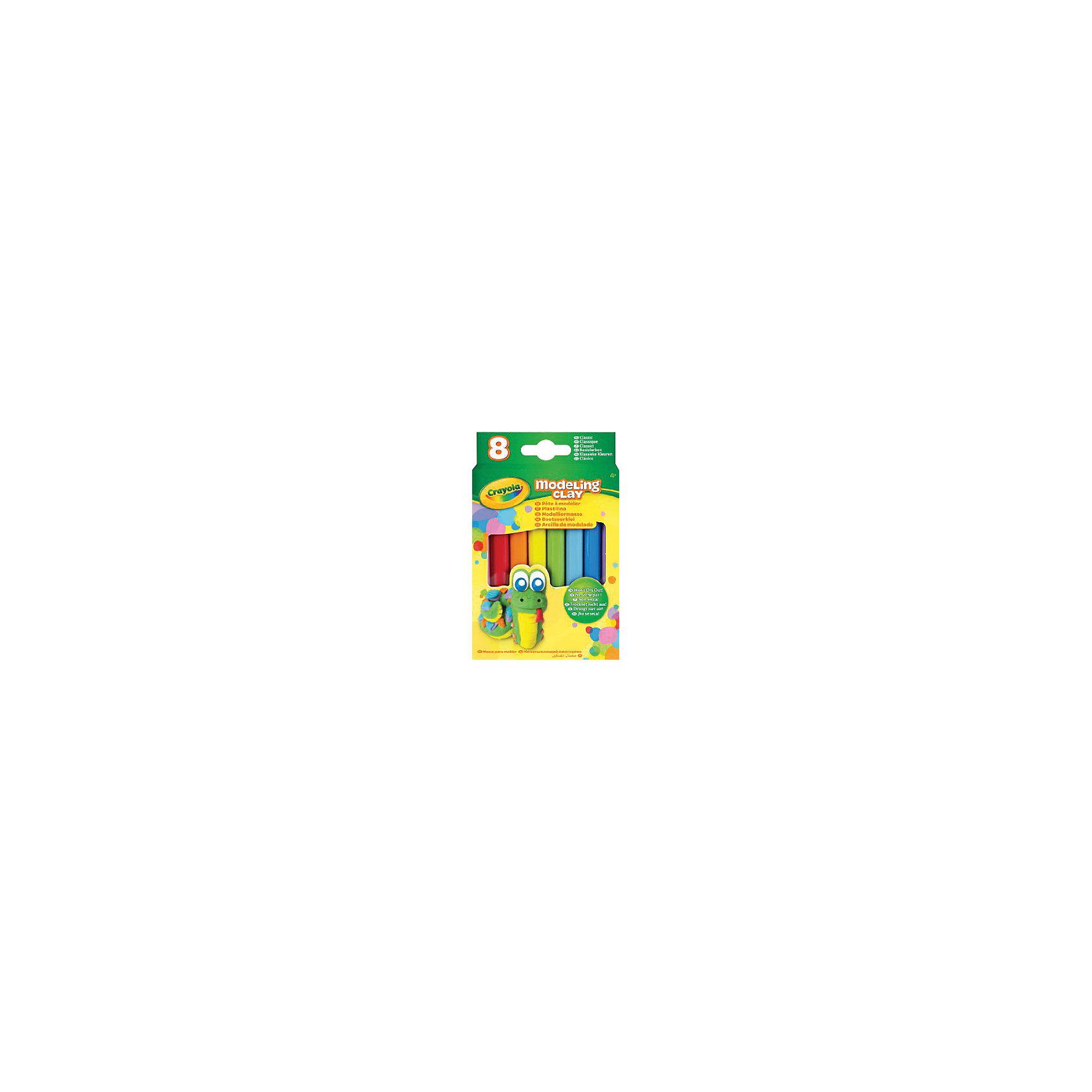 Crayola Незасыхающий пластилин Классика, 8 цв пластилин детский классика 16 цветов 20с 1329 08