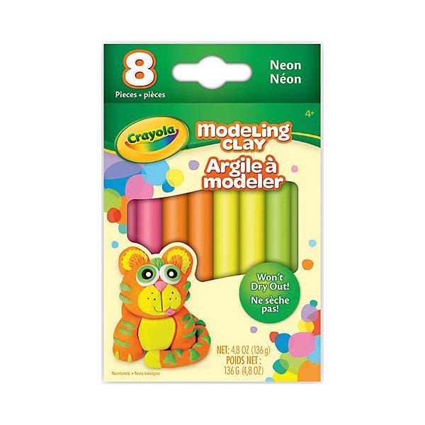 Незасыхающий пластилин Неоновый, 8 цвХиты продаж<br>Незасыхающий пластилин Неоновый замечательно подойдет для детского творчества и превратит лепку в увлекательное занятие. Яркие насыщенные цвета с неоновым эффектом открывают ребенку простор для творческих экспериментов и позволят создавать различные поделки.<br>Пластилин обладает отличными пластичными свойствами, не пачкается и не липнет к рукам. А если ребенок забыл убрать его в коробочку, он не затвердеет и останется таким же мягким. Цвета отлично смешиваются между собой, образуя новые оттенки. В комплект входят 8 кусочков пластилина разных цветов. Занятия лепкой развивают у ребенка фантазию, творческие способности и объемное воображение, тренируют координацию движений и мелкую моторику.<br><br>Дополнительная информация:<br><br>- В комплекте: 8 цветов по 17 гр. каждый.<br>- Размер упаковки: 10 х 1 х 13 см.<br>- Вес: 168 гр.<br><br>Незасыхающий пластилин Неоновый, 8 цв., Crayola (Крайола) можно купить в нашем интернет-магазине.<br>Ширина мм: 89; Глубина мм: 135; Высота мм: 130; Вес г: 168; Возраст от месяцев: 48; Возраст до месяцев: 108; Пол: Унисекс; Возраст: Детский; SKU: 4701823;