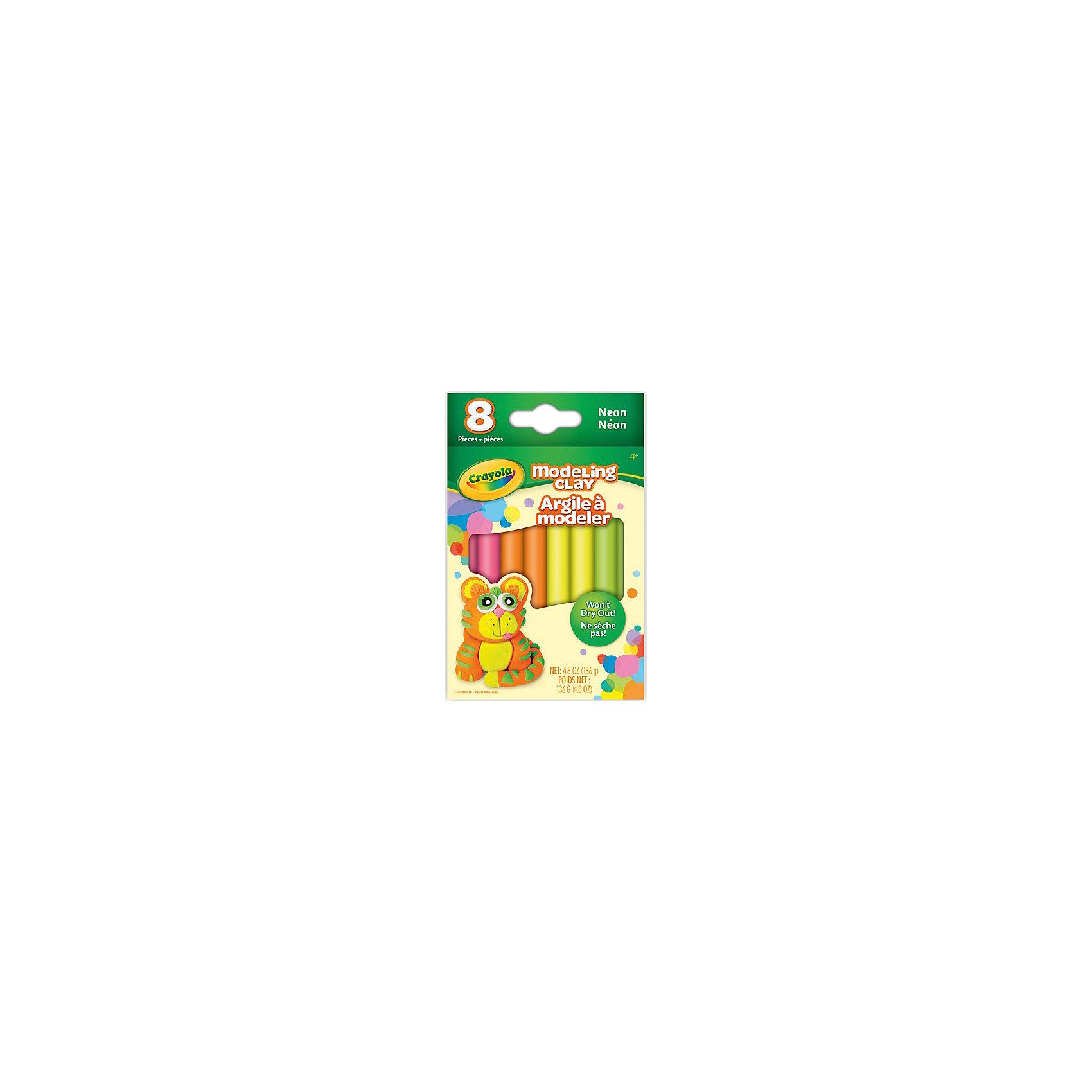 Незасыхающий пластилин Неоновый, 8 цвЛепка<br>Незасыхающий пластилин Неоновый замечательно подойдет для детского творчества и превратит лепку в увлекательное занятие. Яркие насыщенные цвета с неоновым эффектом открывают ребенку простор для творческих экспериментов и позволят создавать различные поделки.<br>Пластилин обладает отличными пластичными свойствами, не пачкается и не липнет к рукам. А если ребенок забыл убрать его в коробочку, он не затвердеет и останется таким же мягким. Цвета отлично смешиваются между собой, образуя новые оттенки. В комплект входят 8 кусочков пластилина разных цветов. Занятия лепкой развивают у ребенка фантазию, творческие способности и объемное воображение, тренируют координацию движений и мелкую моторику.<br><br>Дополнительная информация:<br><br>- В комплекте: 8 цветов по 17 гр. каждый.<br>- Размер упаковки: 10 х 1 х 13 см.<br>- Вес: 168 гр.<br><br>Незасыхающий пластилин Неоновый, 8 цв., Crayola (Крайола) можно купить в нашем интернет-магазине.<br><br>Ширина мм: 89<br>Глубина мм: 135<br>Высота мм: 130<br>Вес г: 168<br>Возраст от месяцев: 48<br>Возраст до месяцев: 108<br>Пол: Унисекс<br>Возраст: Детский<br>SKU: 4701823