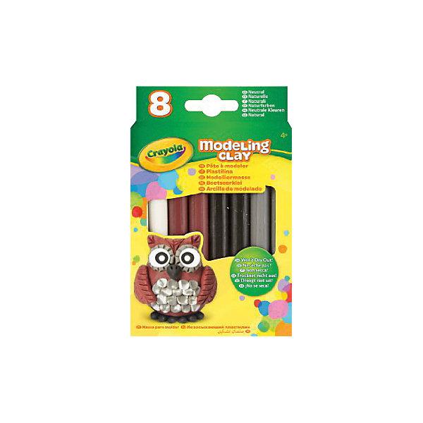 Купить Незасыхающий пластилин Натуральный , 8 цв, Crayola, Малайзия, Унисекс