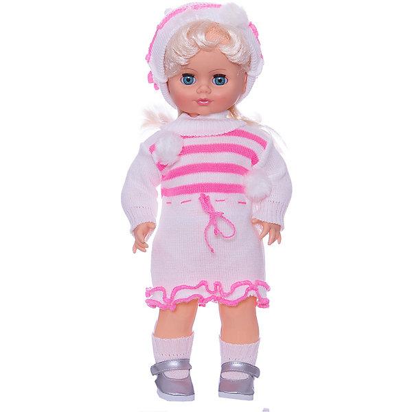 Кукла Инна 37, со звуком, 43 см, ВеснаКуклы<br>Красивая кукла от отечественного производителя способна не просто помочь ребенку весело проводить время, но и научить девочку одеваться со вкусом. На ней - модный костюм, всё можно снимать и надевать.<br>Кукла произносит несколько фраз, механизм работает от батареек. Очень красиво смотрятся пышные волосы, на которых можно делать прически. Сделана игрушка из качественных и безопасных для ребенка материалов. Такая кукла поможет ребенку освоить механизмы социальных взаимодействий, развить моторику и воображение. Также куклы помогают девочкам научиться заботиться о других.<br><br>Дополнительная информация:<br><br>- материал: пластмасса;<br>- волосы: прошивные;<br>- открывающиеся глаза;<br>- звуковой модуль;<br>- снимающаяся одежда и обувь;<br>- высота: 43 см.<br><br>Комплектация:<br><br>- одежда;<br>- три батарейки СЦ 357.<br><br>Куклу Инна 37, со звуком, от марки Весна можно купить в нашем магазине.<br><br>Ширина мм: 210<br>Глубина мм: 130<br>Высота мм: 430<br>Вес г: 550<br>Возраст от месяцев: 36<br>Возраст до месяцев: 1188<br>Пол: Женский<br>Возраст: Детский<br>SKU: 4701833